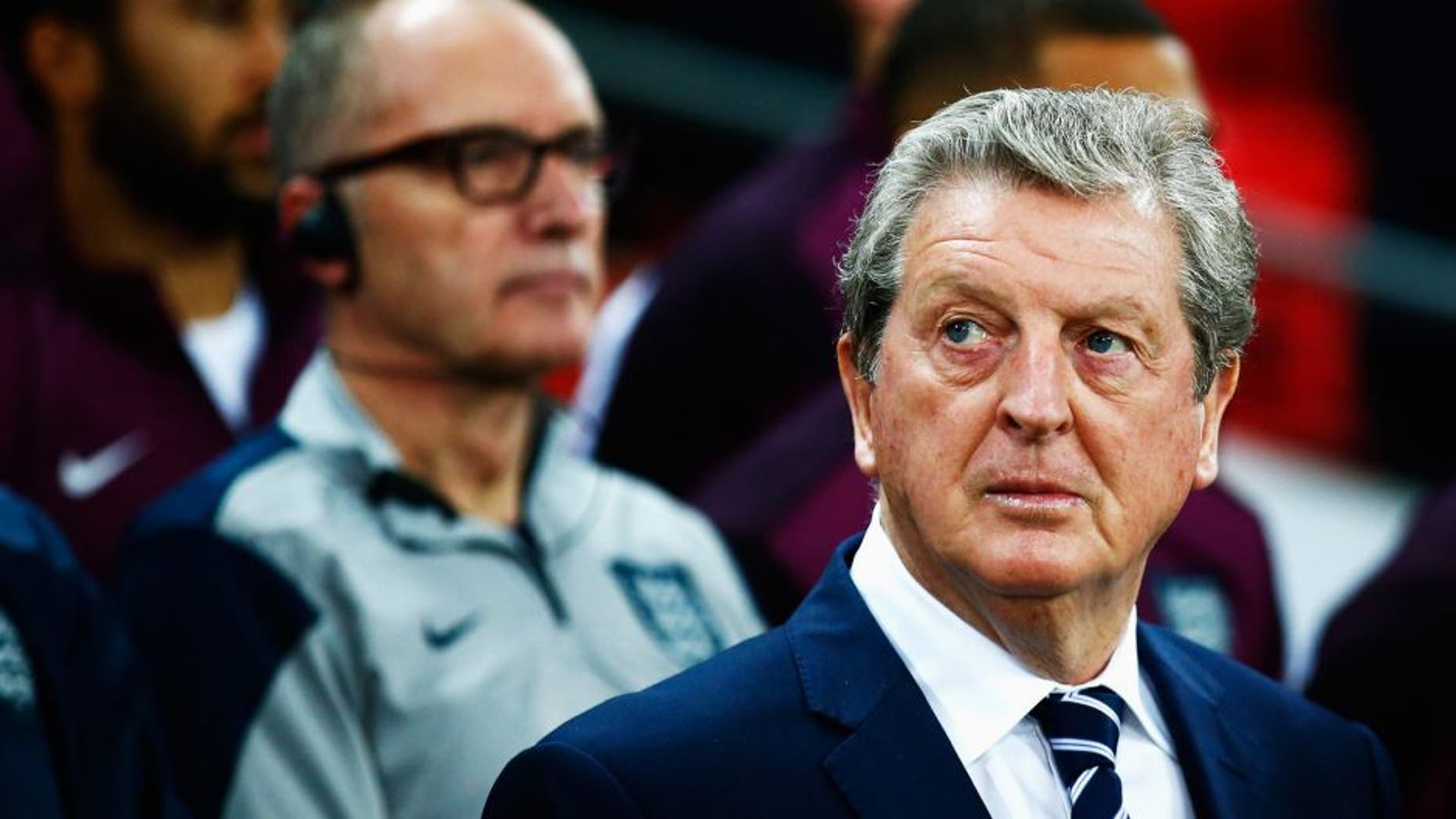 LONDON, ENGLAND - OCTOBER 09: Roy Hodgson manager of England looks on prior to the UEFA EURO 2016 Group E qualifying match between England and Estonia at Wembley on October 9, 2015 in London, United Kingdom. (Photo by Clive Rose/Getty Images)