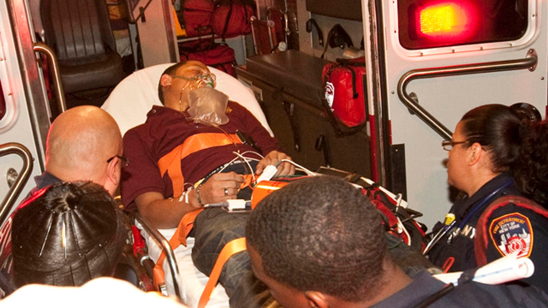 Oct.  8: Bryan Almonte is rushed to the hospital after suffering a medical emergency in New York.