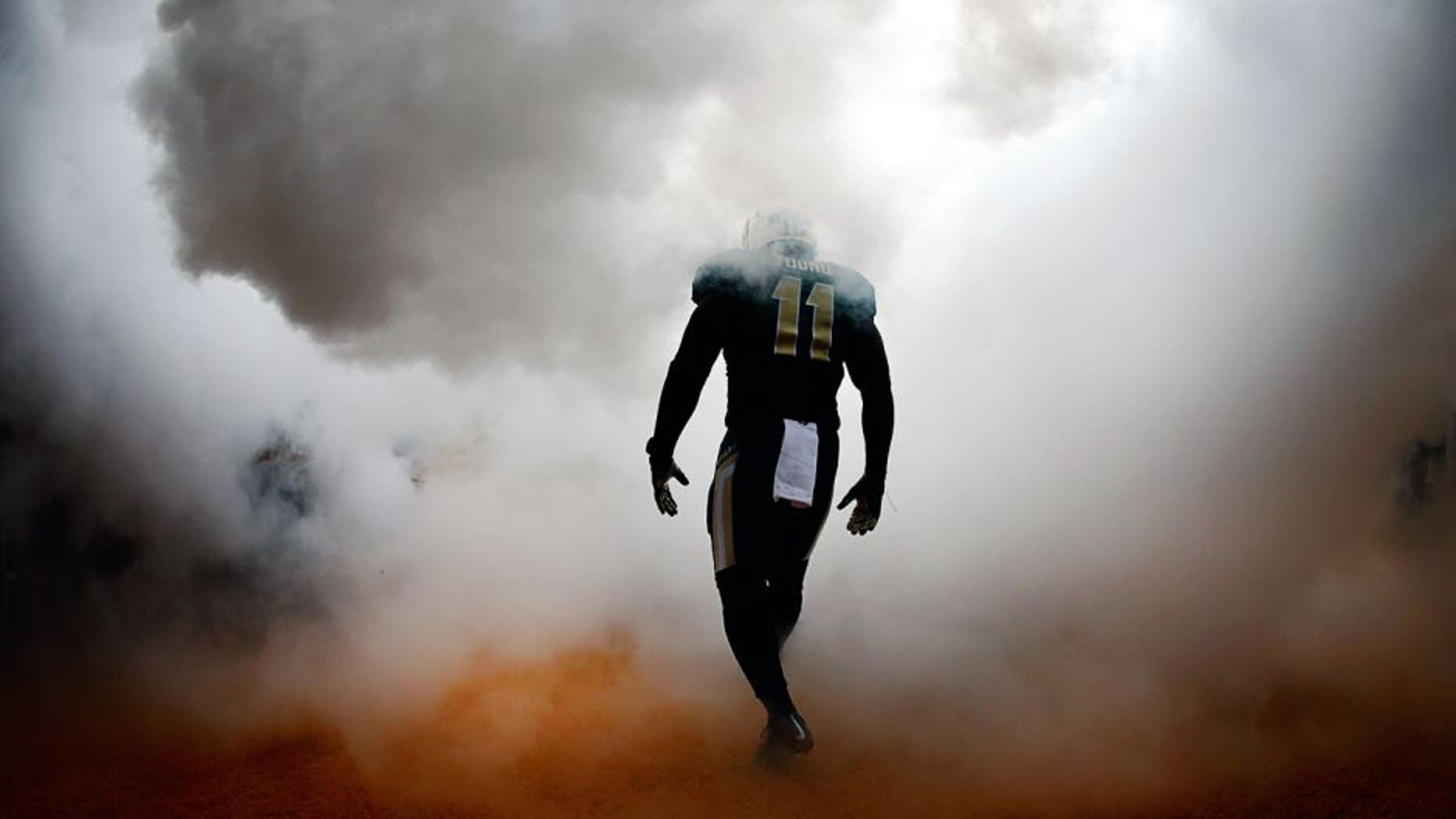 WACO, TX - OCTOBER 11: Taylor Young #11 of the Baylor Bears walks on the field before taking on the TCU Horned Frogs at McLane Stadium on October 11, 2014 in Waco, Texas. (Photo by Tom Pennington/Getty Images)