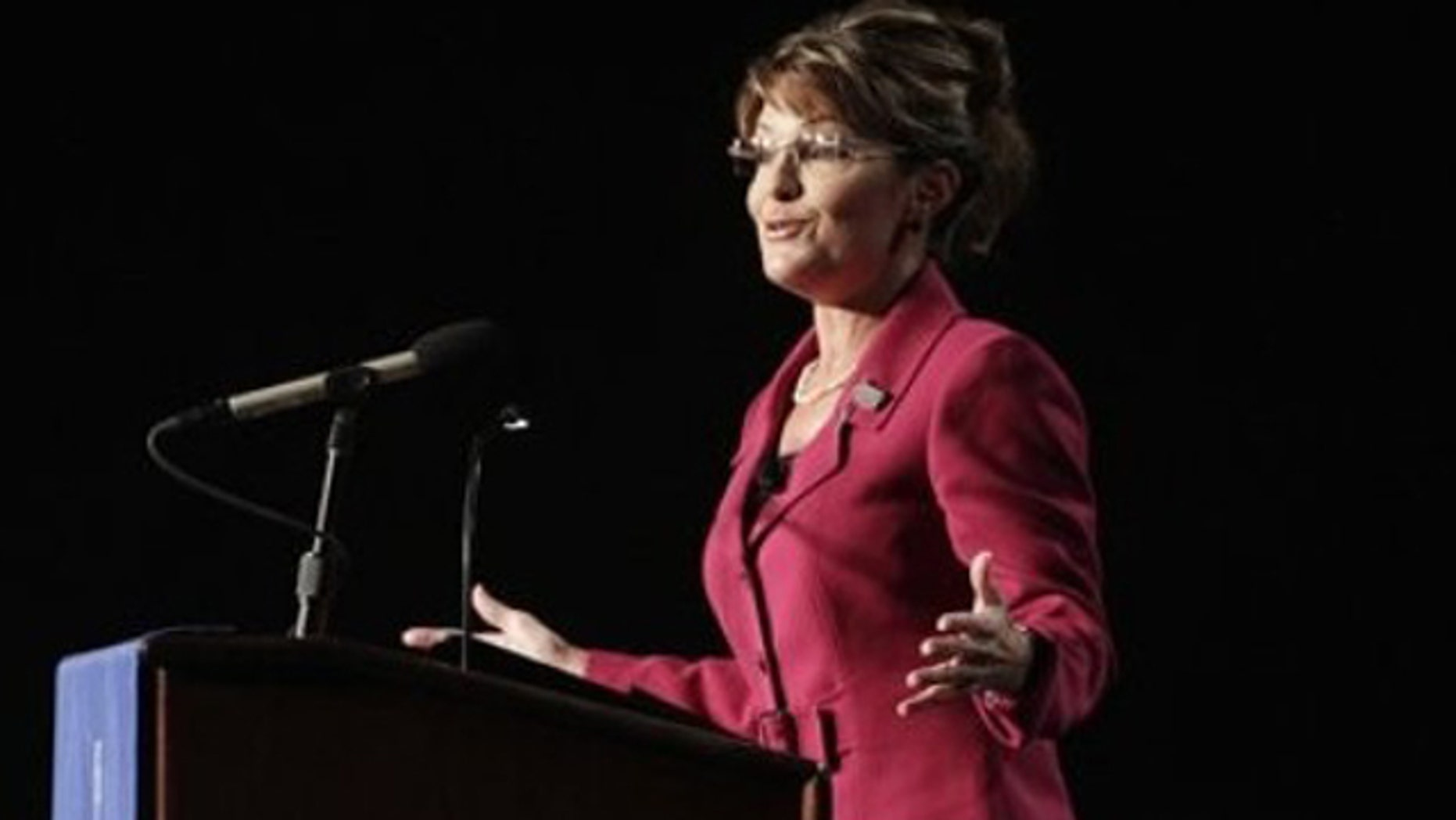 Oct. 7: Former Alaska Gov. Sarah Palin speaks at a benefit dinner for Faulkner University in Montgomery, Ala.