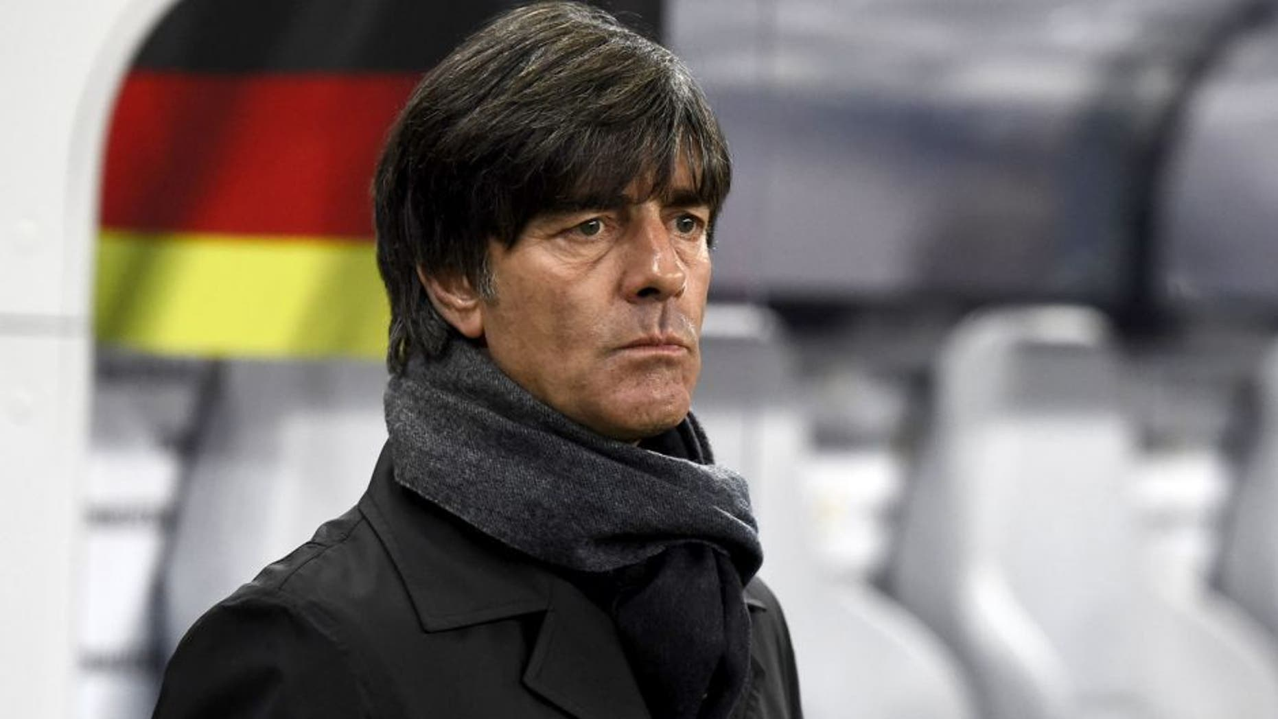 Germany's head coach Joachim Loew arrives for the Euro 2016 Group D qualifying football match between Germany and Georgia in Leipzig, eastern Germany, on October 11, 2015. AFP PHOTO / TOBIAS SCHWARZ (Photo credit should read TOBIAS SCHWARZ/AFP/Getty Images)