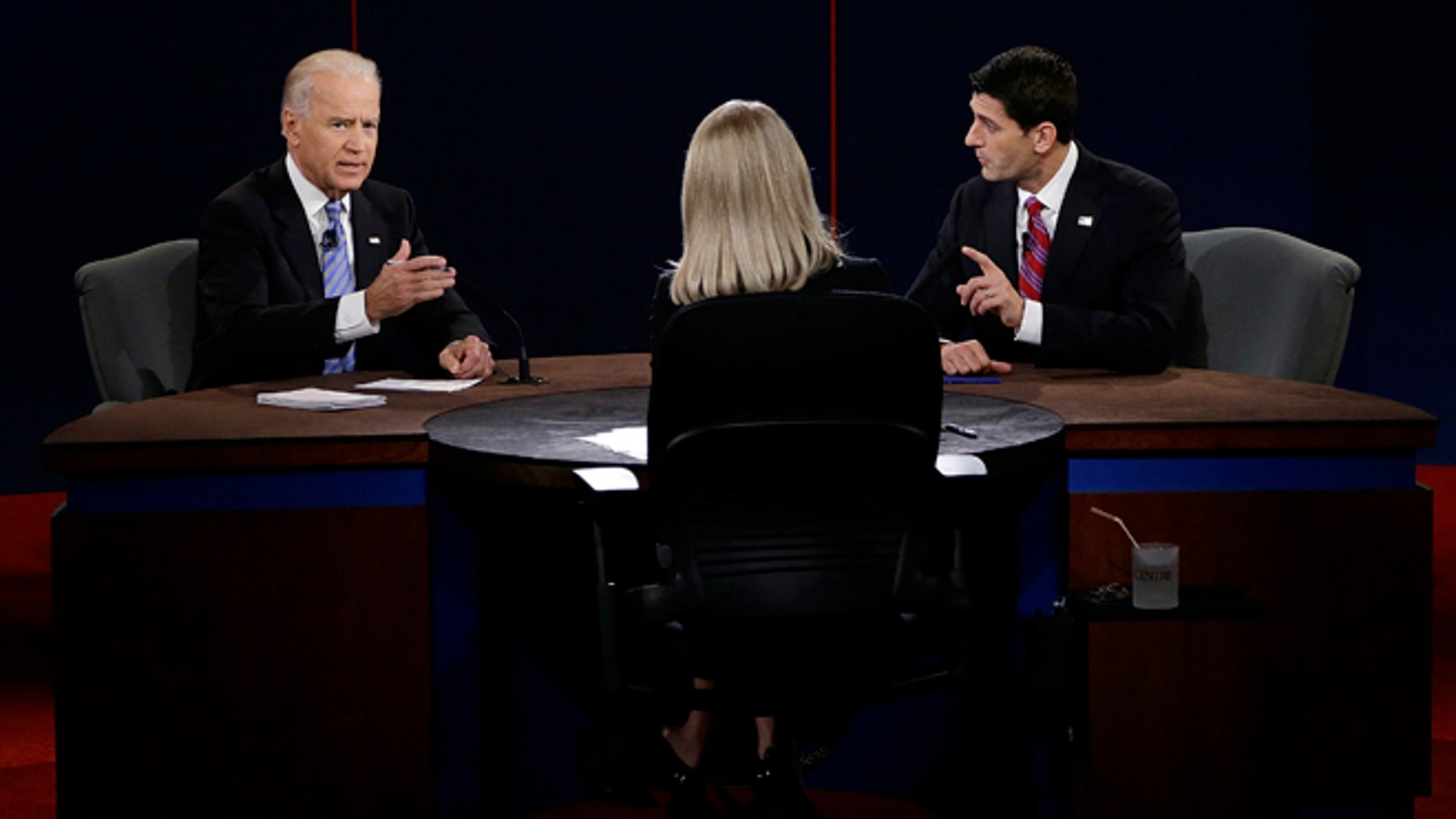 Oct. 11, 2012: Joe Biden and Paul Ryan participate in the vice presidential debate.