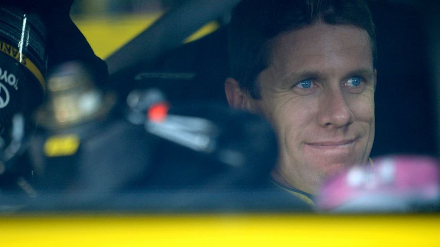 CHARLOTTE, NC - OCTOBER 09: Carl Edwards, driver of the #19 Stanley Toyota, sits in his car during practice for the NASCAR Sprint Cup Series Bank of America 500 at Charlotte Motor Speedway on October 9, 2015 in Charlotte, North Carolina. (Photo by Robert Laberge/Getty Images)