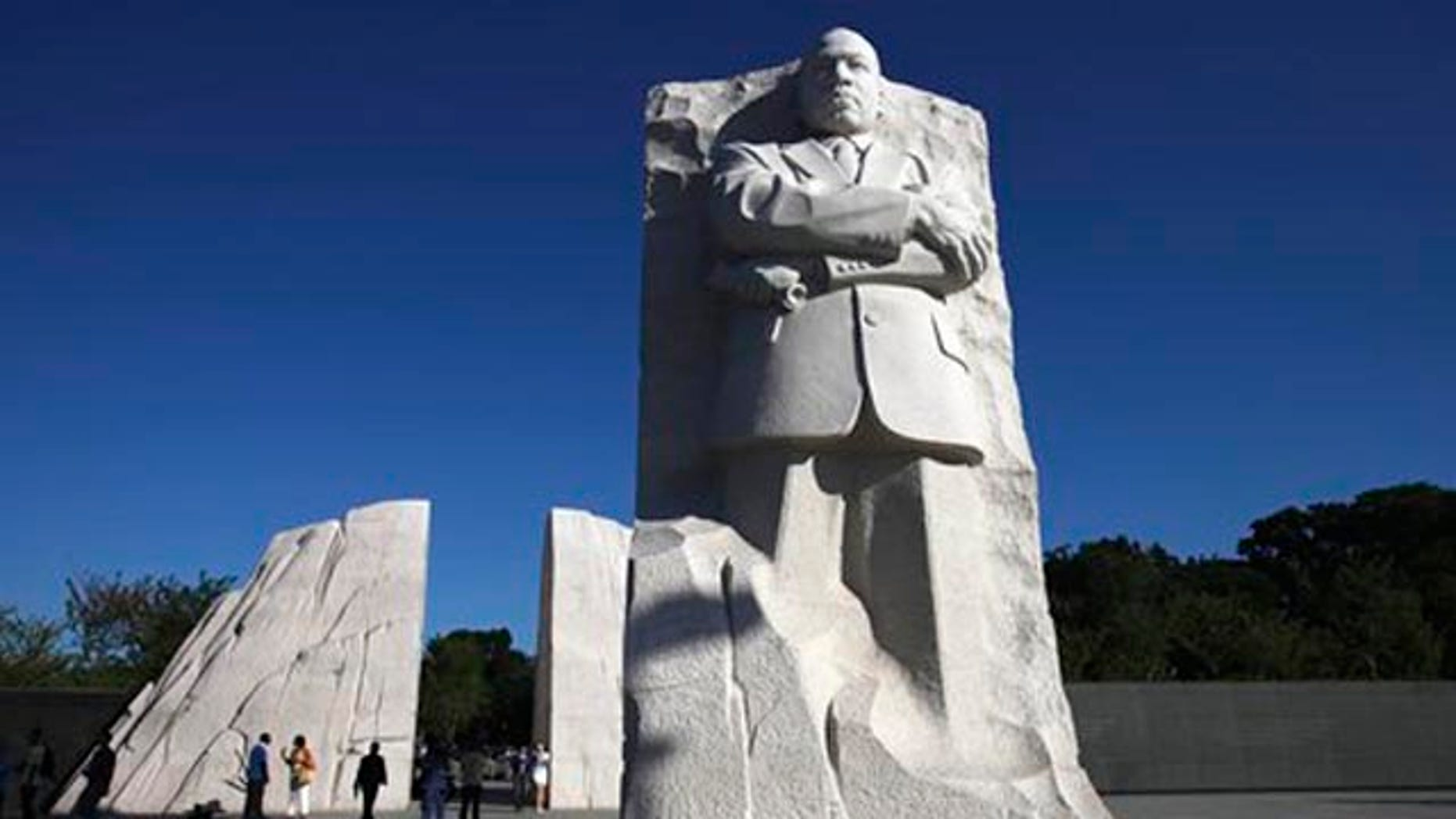 FILE - In this Aug. 22, file photo, The Martin Luther King, Jr. Memorial is seen in Washington.