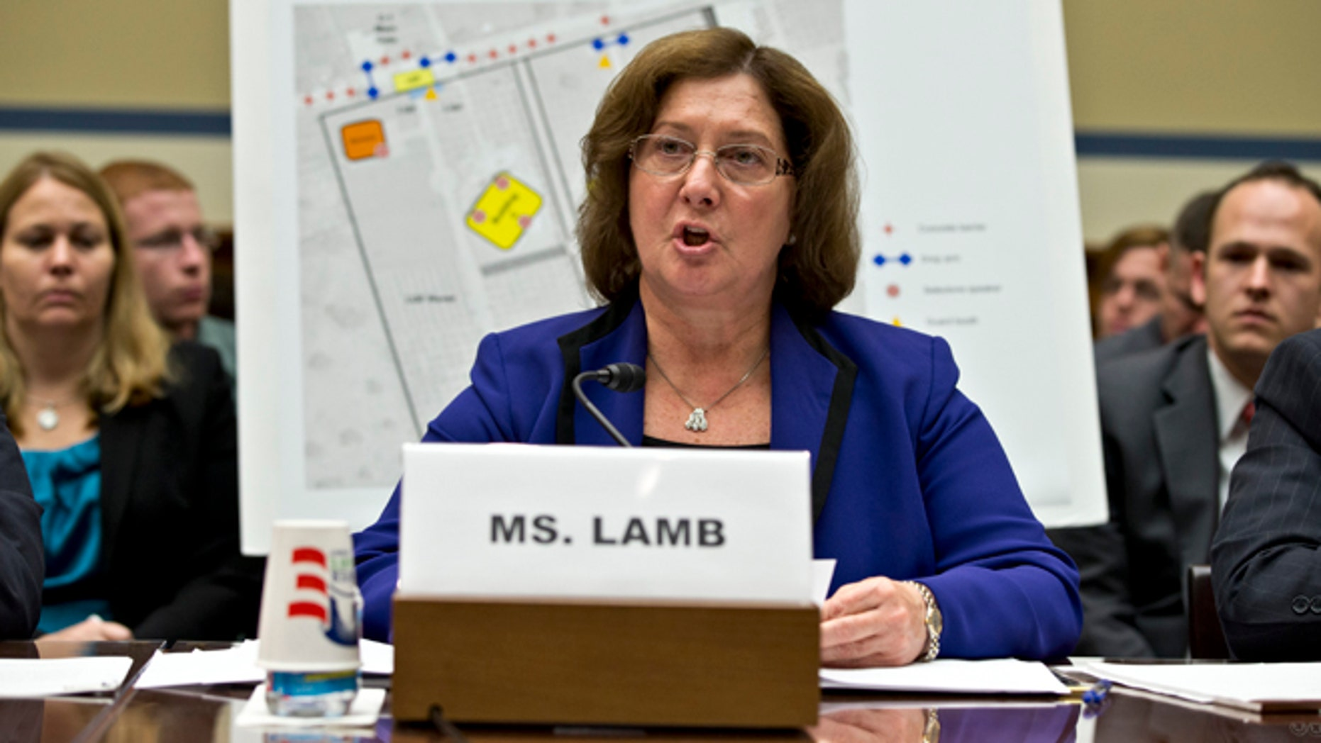 Oct. 10, 2012: Charlene Lamb, deputy assistant secretary for international programs at the State Department's Bureau of Diplomat Security, testifies on Capitol Hill in Washington.