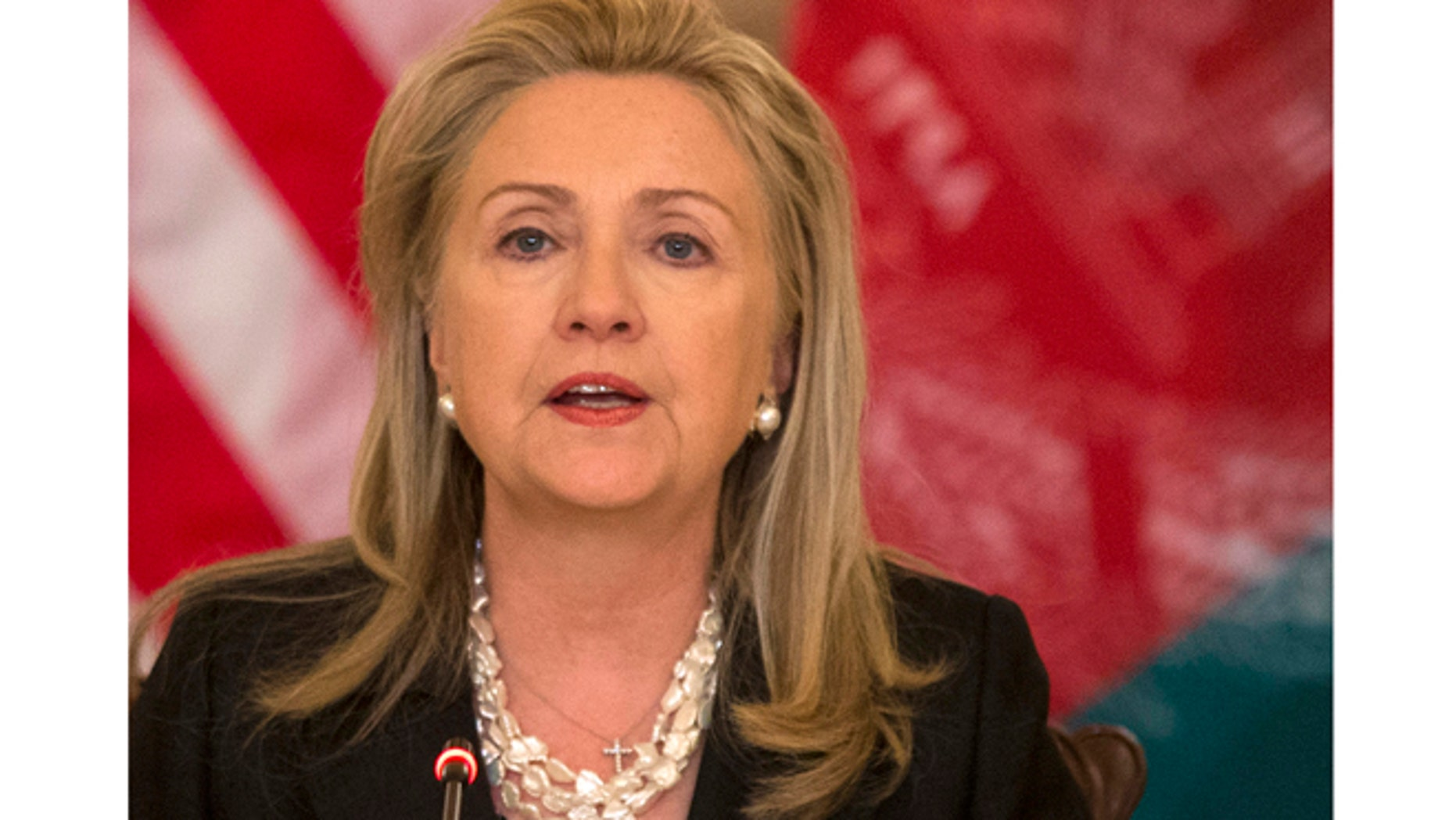 Oct. 3, 2012: Secretary of State Hillary Rodham Clinton speaks at the State Department in Washington.