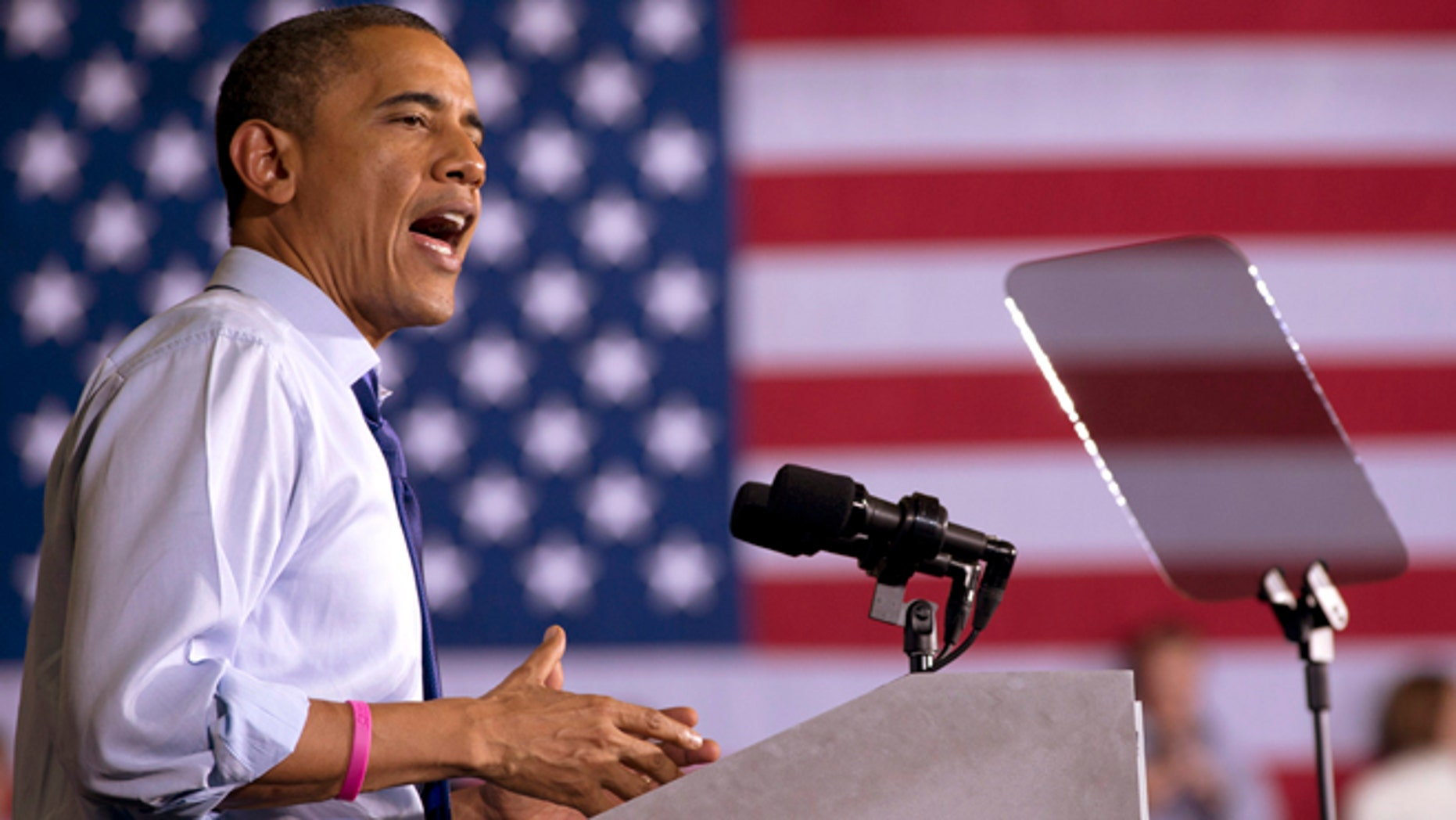 Oct. 17, 2012: President Barack Obama speaks at a campaign event at Cornell College in Mt. Vernon, Iowa.