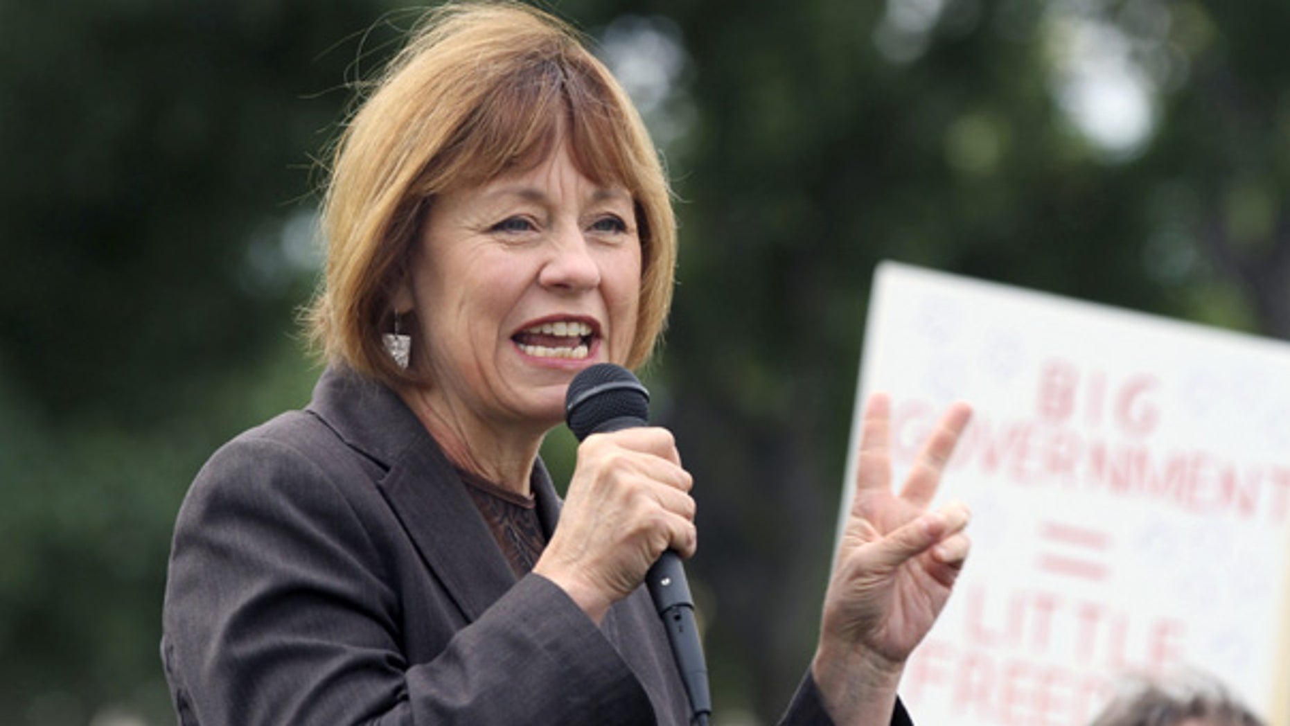 Oct. 11:  Nevada GOP Senate candidate Sharron Angle speaks at a rally in Carson City, Nev.