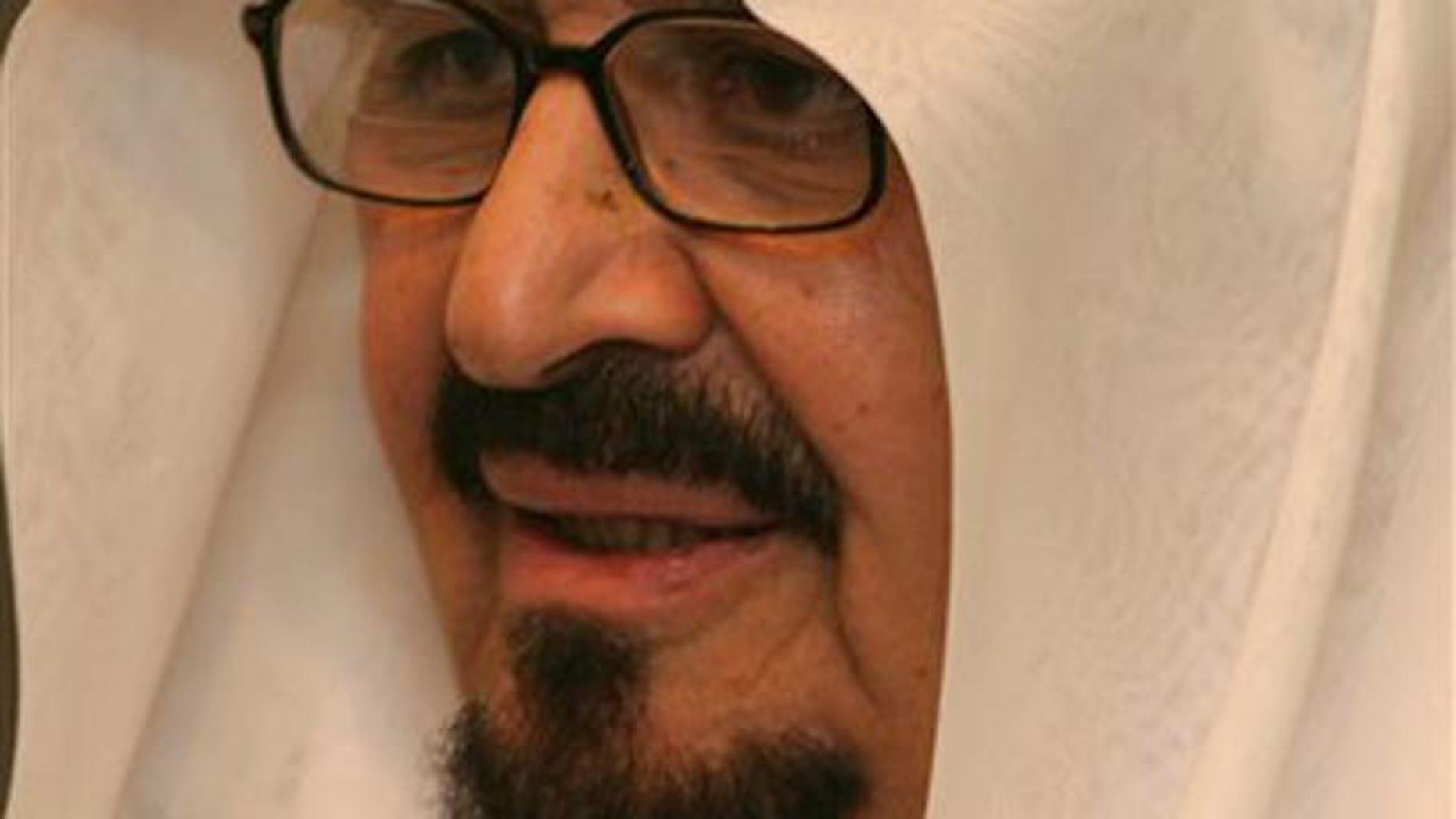 FILE - Saudi Crown prince Sultan Bin Abdel Aziz attends the signing of the final border demarcation agreement between Yemen and Saudi Arabia in the southern Yemeni port city of al-Mukalla.