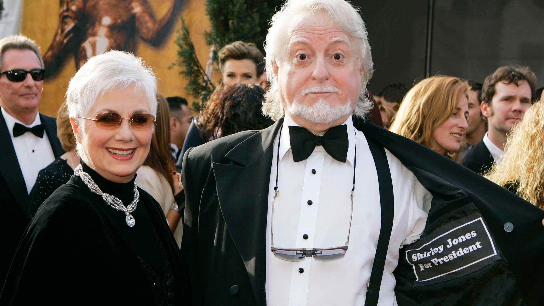FILE - In this Jan. 28, 2007 file photo, Shirley Jones left, and her husband Marty Ingels arrive at the 13th Annual Screen Actors Guild Awards in Los Angeles.