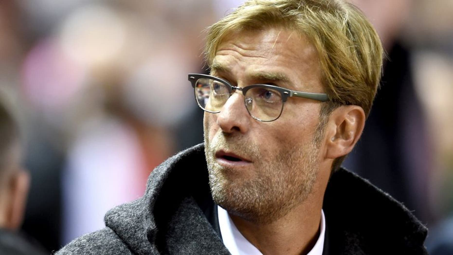 LIVERPOOL, ENGLAND - OCTOBER 22: Jurgen Klopp the manager of Liverpool looks on during the UEFA Europa League Group B match between Liverpool FC and Rubin Kazan at Anfield on October 22, 2015 in Liverpool, United Kingdom. (Photo by Michael Regan/Getty Images)
