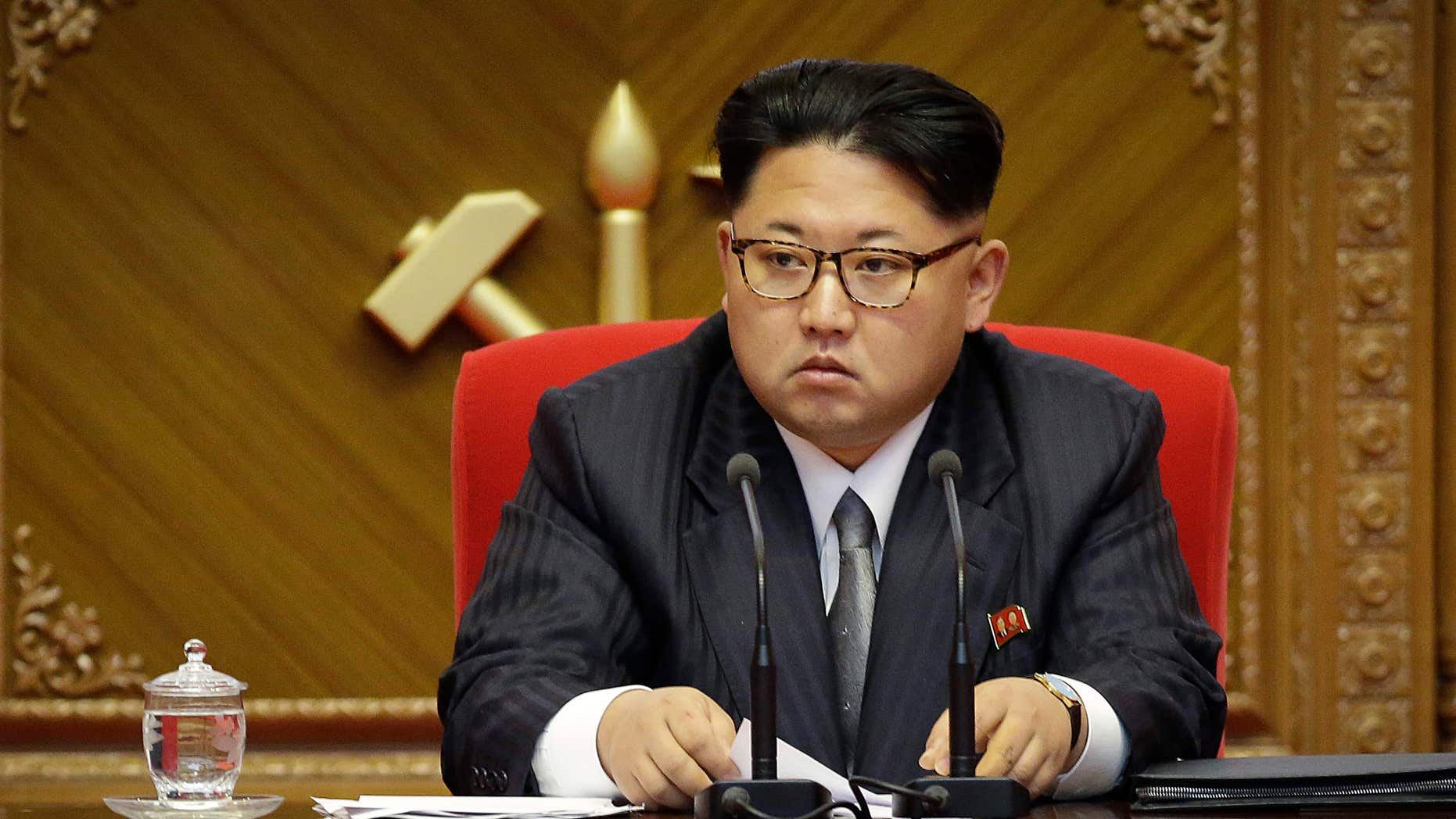 FILE - In this May 9, 2016 file photo, North Korean leader Kim Jong Un listens during the party congress in Pyongyang, North Korea.
