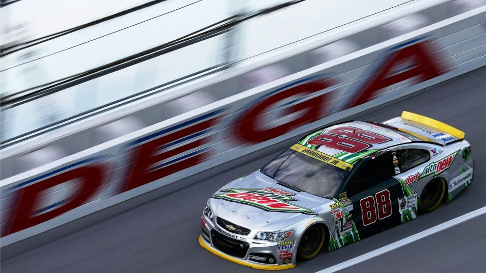 TALLADEGA, AL - OCTOBER 23: Dale Earnhardt Jr., driver of the #88 Diet Mountain Dew Chevrolet, practices for the NASCAR Sprint Cup Series CampingWorld.com 500 at Talladega Superspeedway on October 23, 2015 in Talladega, Alabama. (Photo by Sarah Crabill/Getty Images) PREMIUM ACCESSDate created:October 23, 2015Editorial #: 493956302 Restrictions:Contact your local office for all commercial or promotional uses. Full editorial rights UK, US, Ireland, Australia, NZ, Canada (not Quebec). Restricted editorial rights for daily newspapers elsewhere, please call.Licence type:Rights-managed Collection:Getty Images SportMax file size:3,990 x 2,661 px (33.78 x 22.53 cm) - 300 dpi - 3.1 MBRelease info:Not released.More informationSource:Getty Images North AmericaObject name:532294687JC00293_NASCAR_Spr