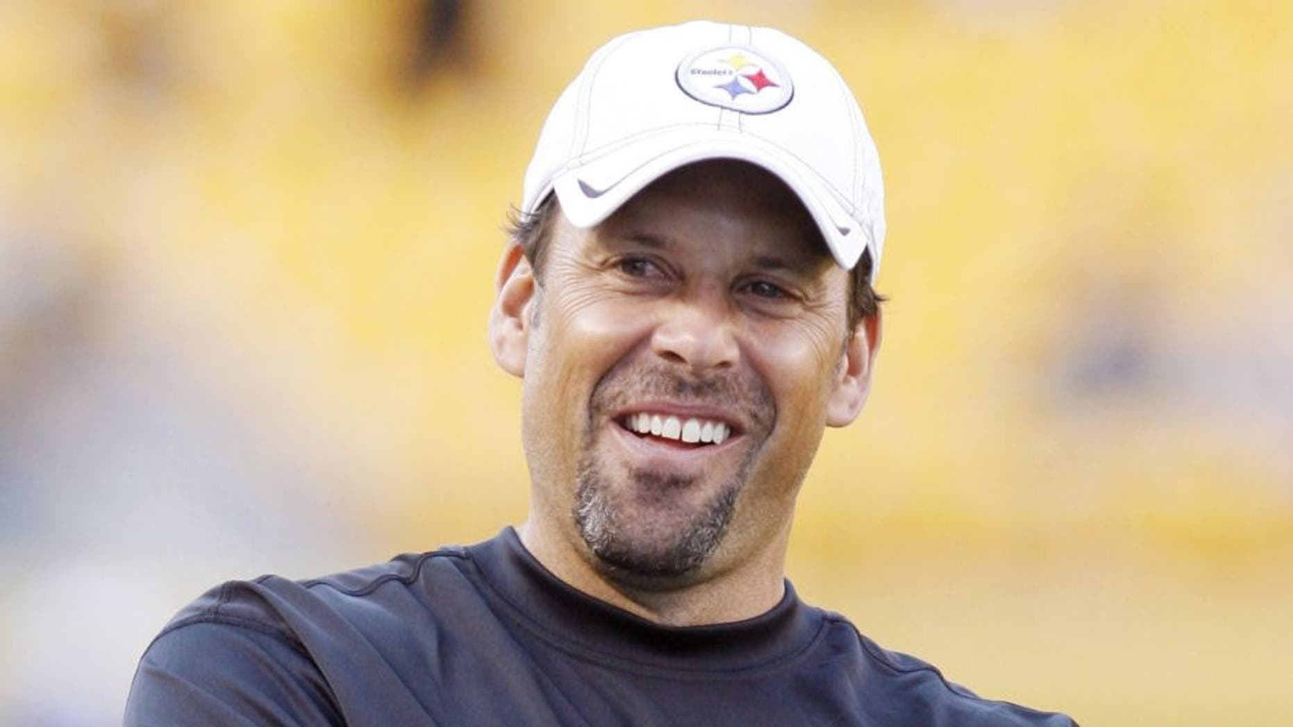 August 19, 2012; Pittsburgh, PA, USA; Pittsburgh Steelers offensive coordinator Todd Haley before the game the Indianapolis Colts at Heinz Field. Mandatory Credit: Charles LeClaire-USA TODAY Sports