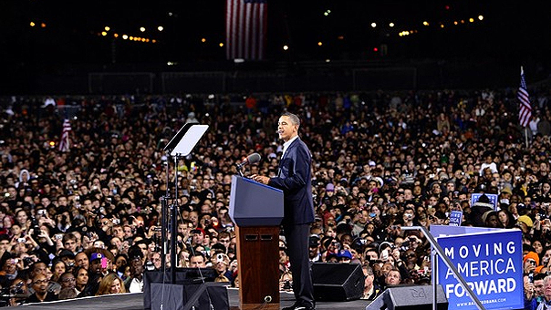 Oct. 30: President Obama speaks during a 'Moving America Forward' rally in Chicago, Ill.