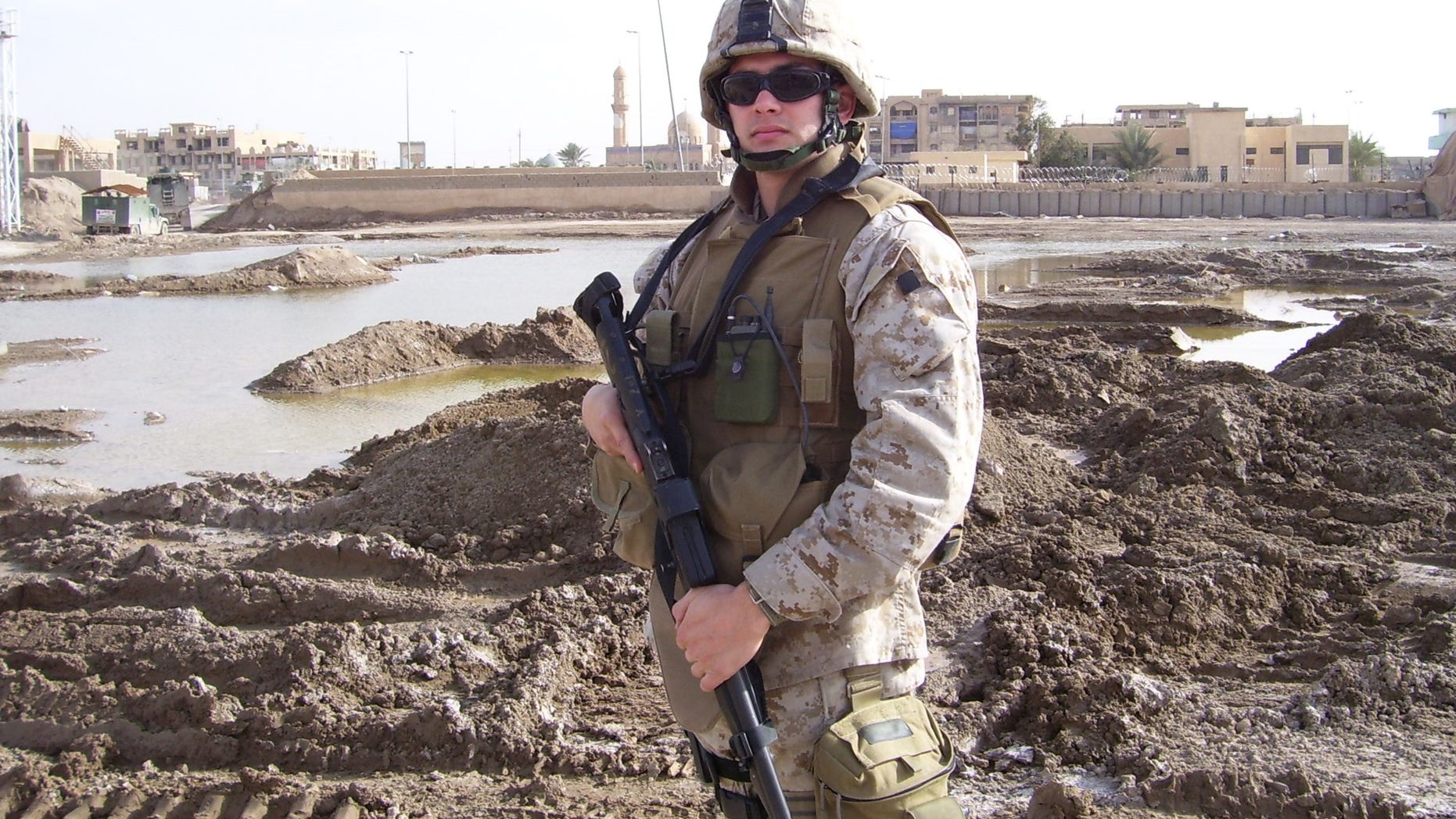 Rye Barcott during his service as a US Marine