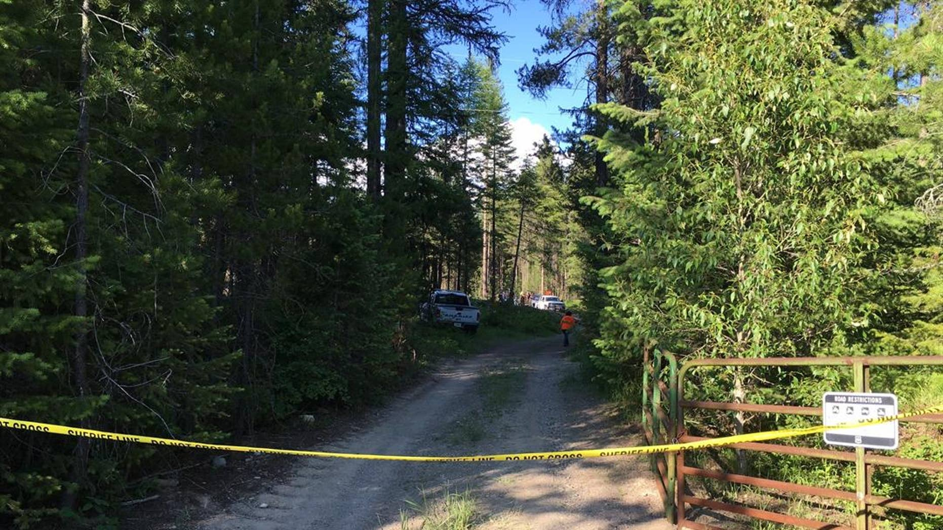 June 30, 2016: A trail leading to Halfmoon Lake in Glacier National Park is closed while officials hunt a bear that attacked and killed a U.S. Forest Service officer Wednesday.