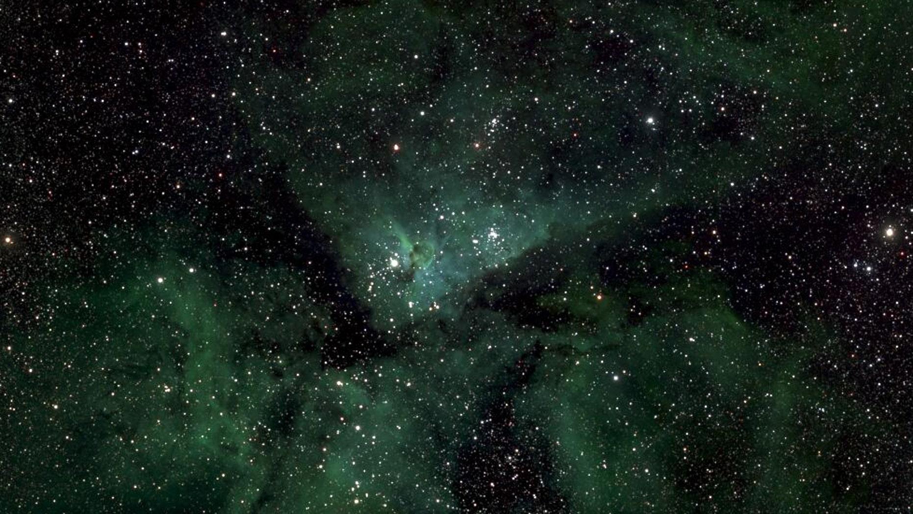 A small section of the Milky Way photo showing Eta Carinae. (Lehrstuhl für Astrophysik, RUB)