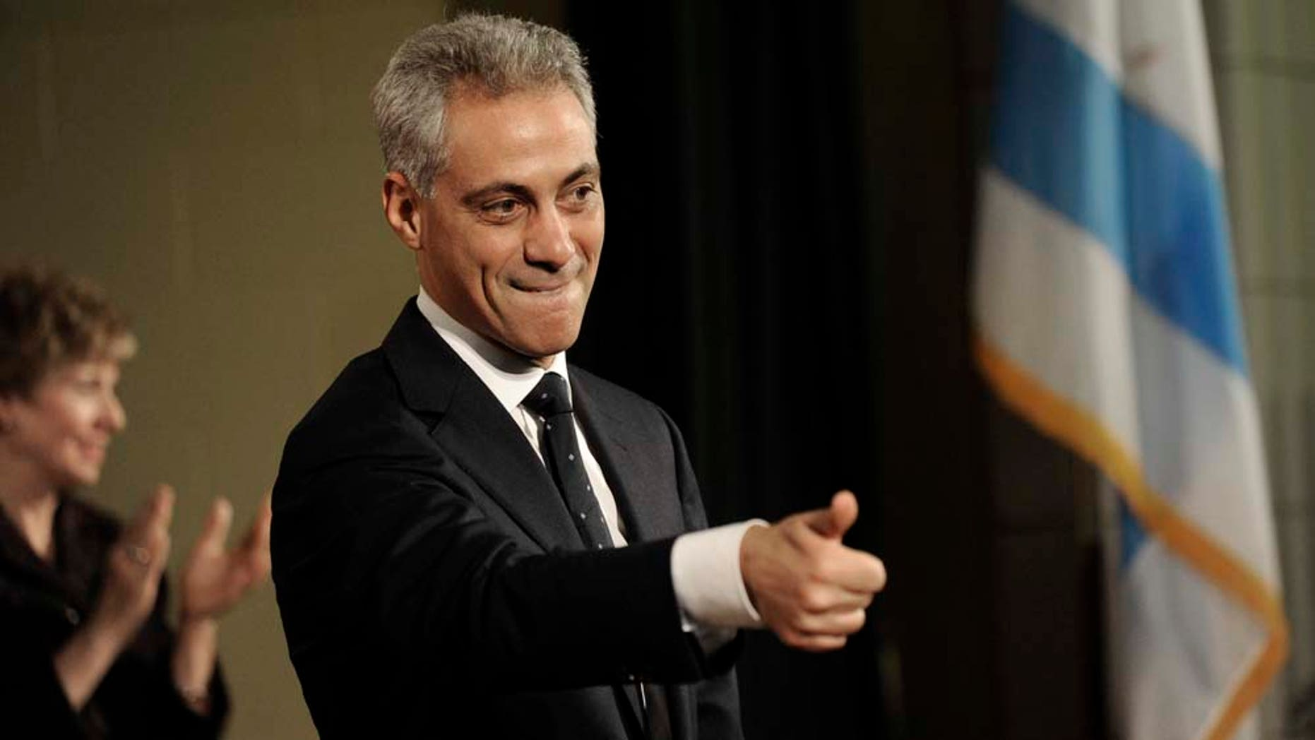 Rahm Emanuel announces his candidacy for Mayor of Chicago at the John C. Coonley School in Chicago, Saturday, Nov. 13, 2010. (AP Photo/Paul Beaty)   Rahm Emanuel announcing his candidacy for Mayor of Chicago at the John C. Coonley School in Chicago, Saturday,  Nov. 13, 2010. (AP Photo/ Paul Beaty)   Rahm Emanuel announcing his candidacy for Mayor of Chicago at the John C. Coonley School in Chicago, Saturday,  Nov. 13, 2010. (AP Photo/ Paul Beaty)