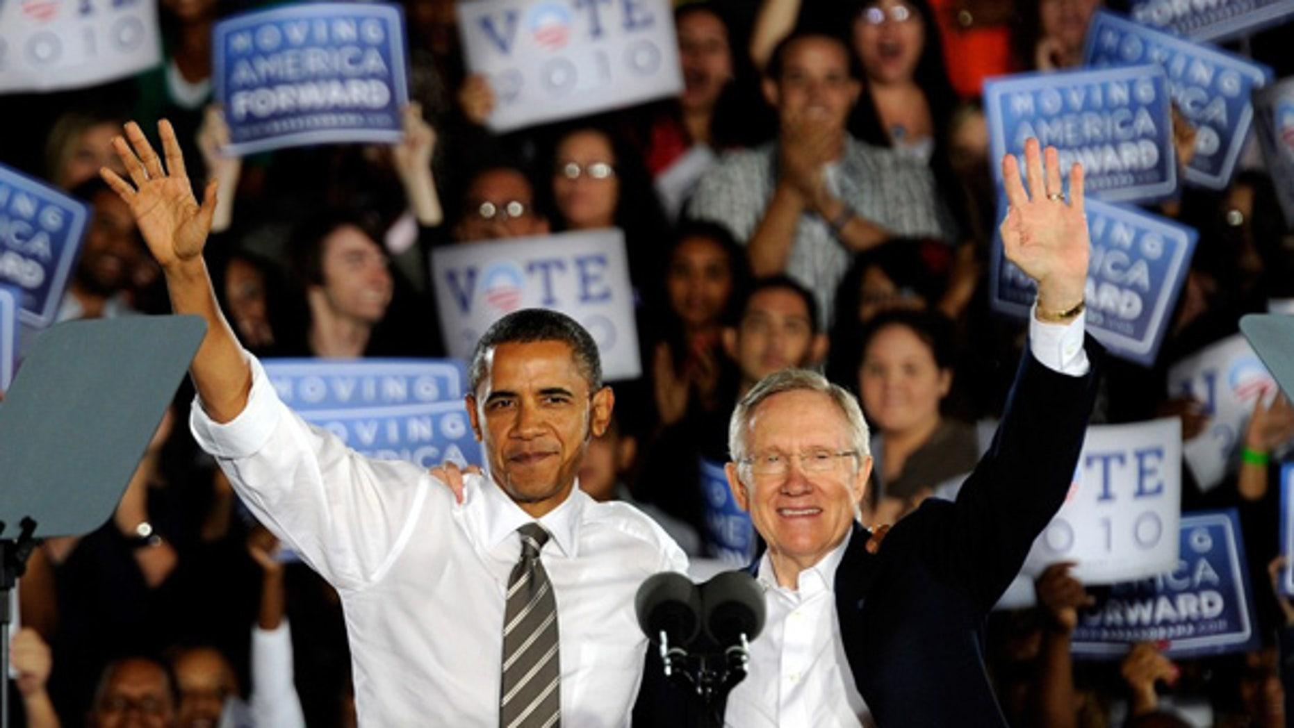 Oct. 22: President Obama campaigns with Senate Majority Leader Harry Reid in Las Vegas.