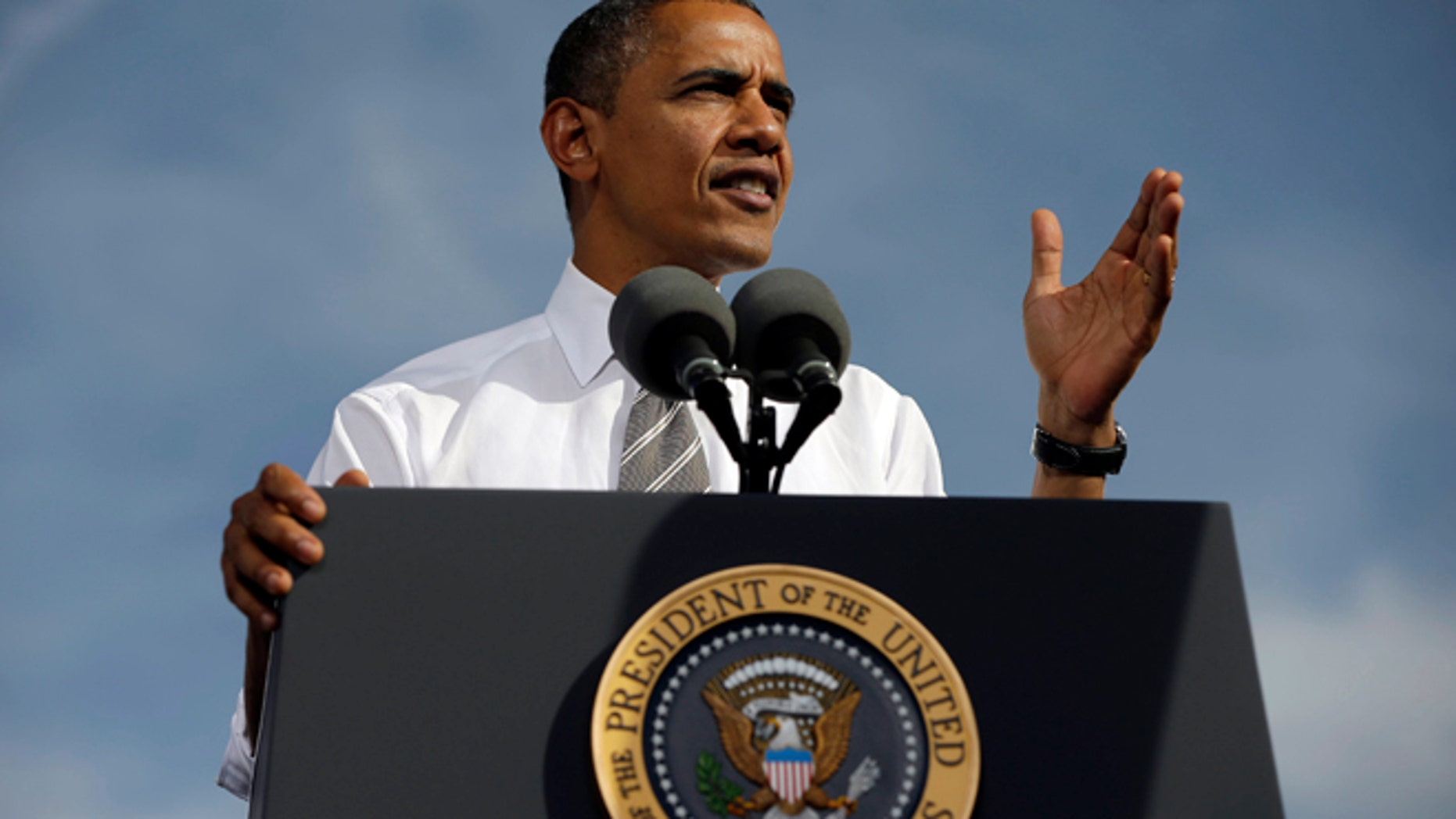 FILE: Nov. 1, 2012: President Obama speaks at Cheyenne Sports Complex in Las Vegas.