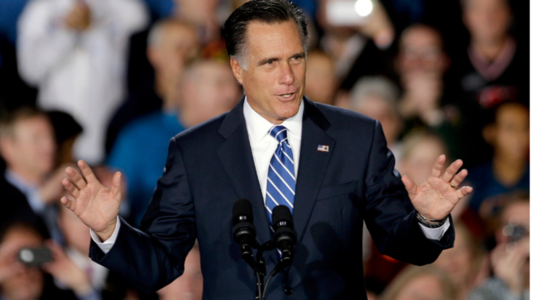 Nov. 2, 2012: Republican presidential nominee Mitt Romney at Wisconsin Products Pavilion at State Fair Park.