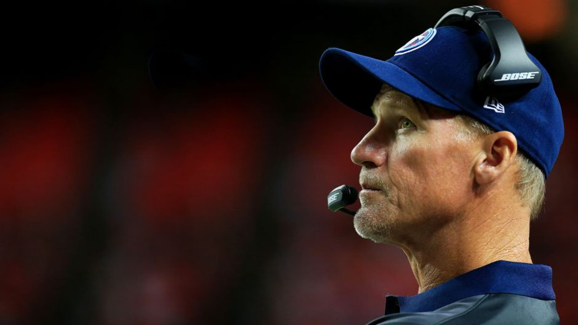 ATLANTA, GA - AUGUST 14: Head coach Ken Whisenhunt of the Tennessee Titans looks on in the second half of a preseason game against the Atlanta Falcons at the Georgia Dome on August 14, 2015 in Atlanta, Georgia. (Photo by Daniel Shirey/Getty Images)