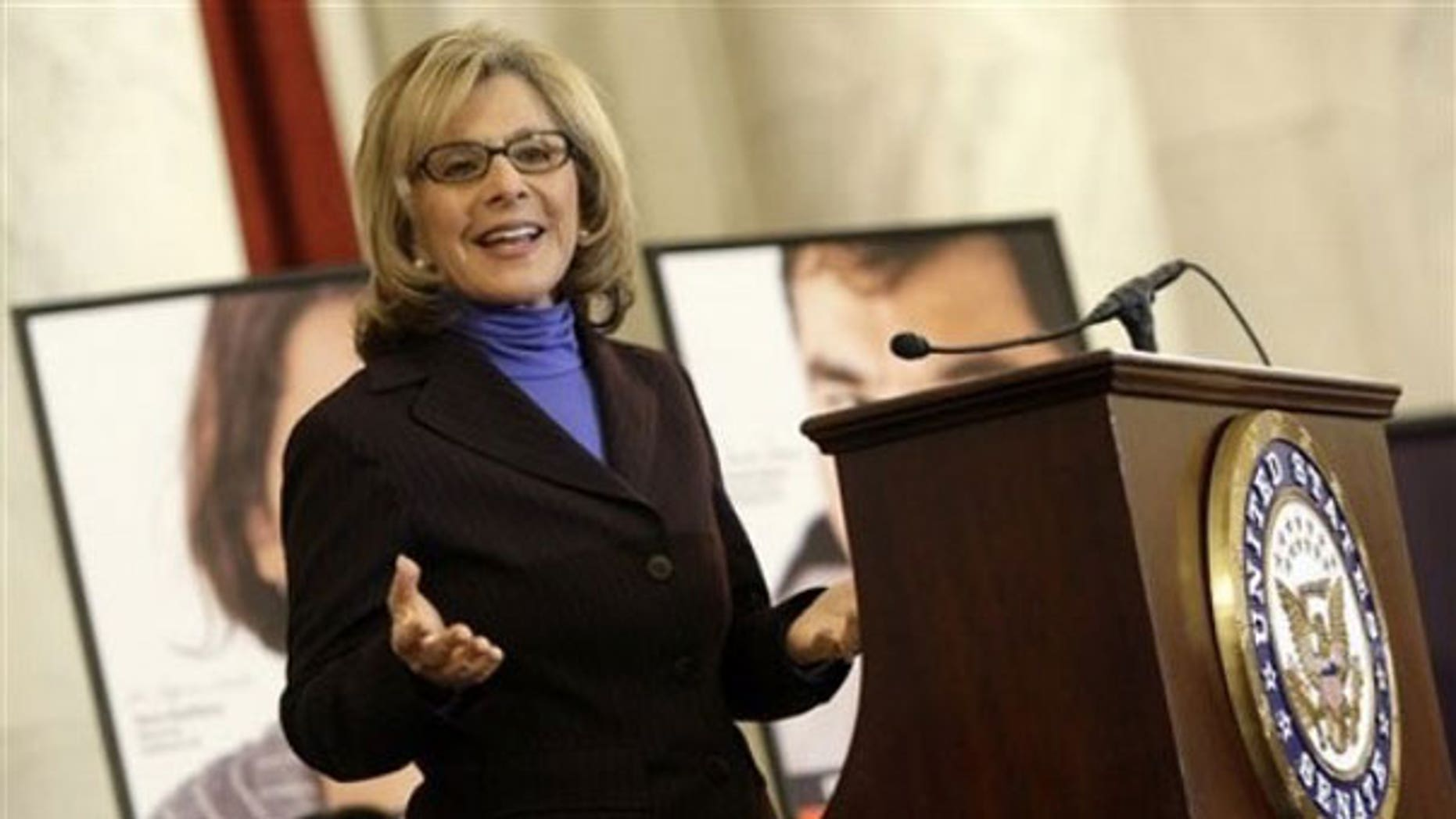 March 31: Sen. Barbara Boxer, D-Calif. gestures as she speaks on Capitol Hill in Washington (AP).