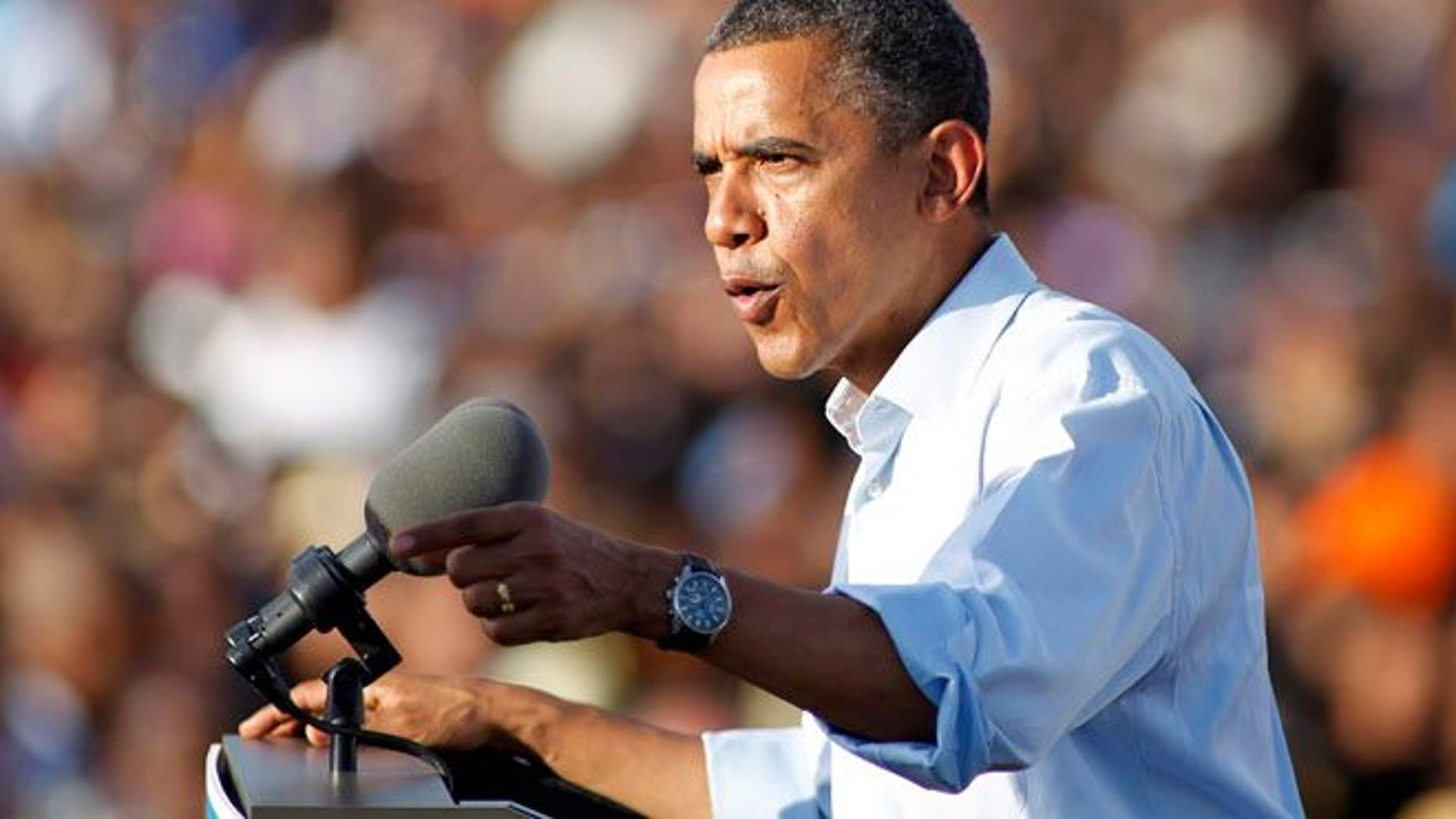 Nov. 4, 2012: President Barack Obama speaks during a campaign event at McArthur High School in Hollywood, Fla.