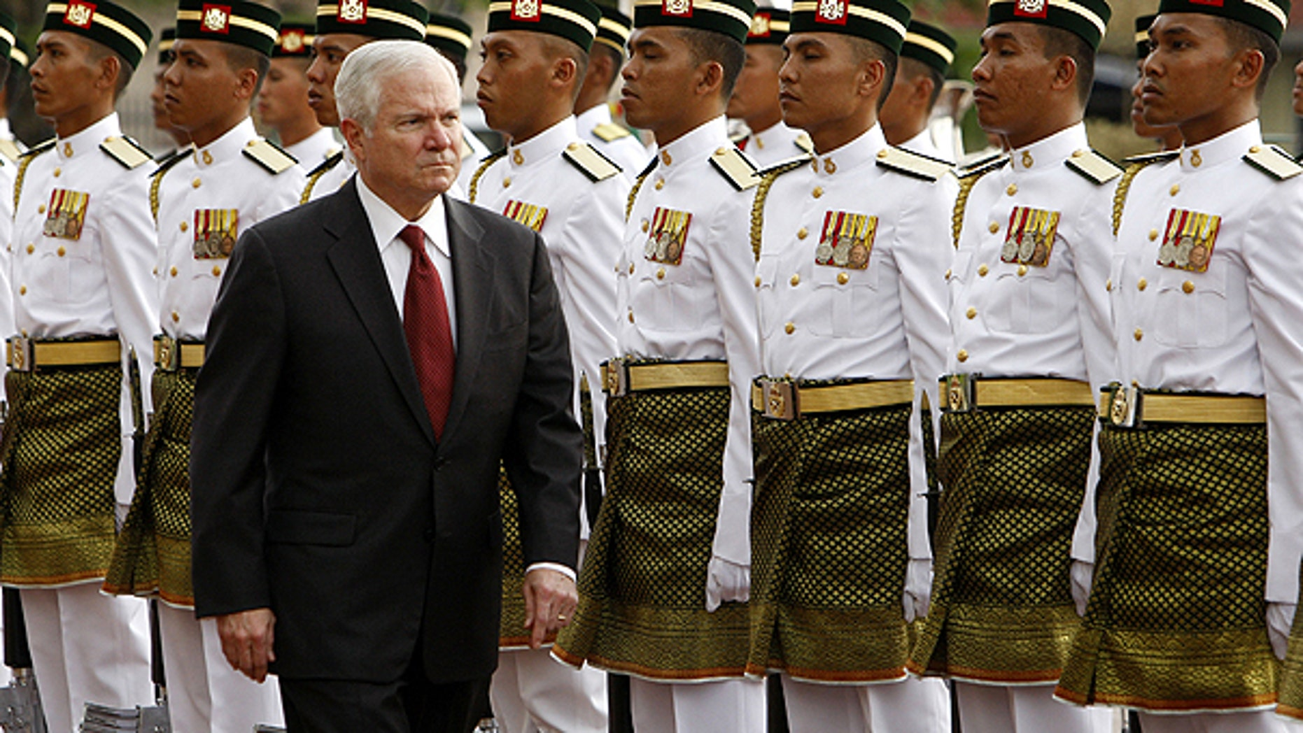 Nov. 9: Defense Secretary Robert Gates inspects the guard of honor during a welcoming ceremony at Malaysia's Ministry of Defense in Kuala Lumpur, Malaysia.