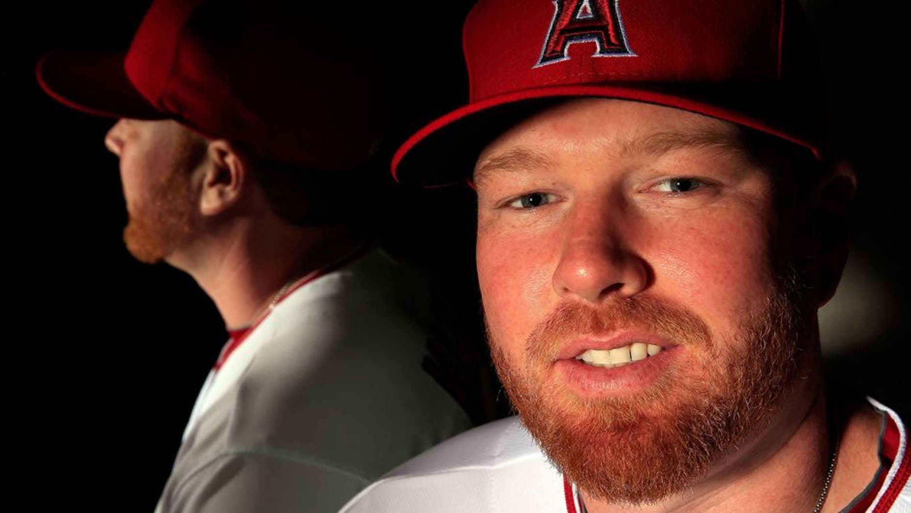 TEMPE, AZ - FEBRUARY 21: Pitcher Tommy Hanson #48 poses during the Los Angeles Angels of Anaheim Photo Day on February 21, 2013 in Tempe, Arizona. (Photo by Jamie Squire/Getty Images)