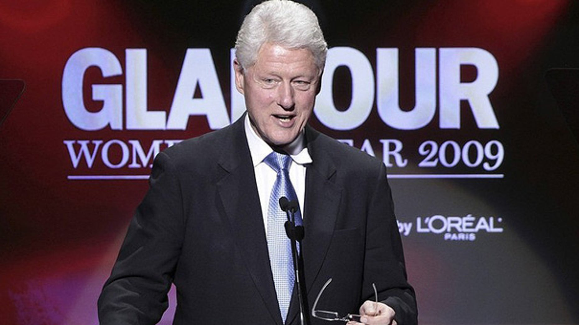 Nov. 9: Former President Bill Clinton presents a 2009 Glamour Women of the Year award in New York.