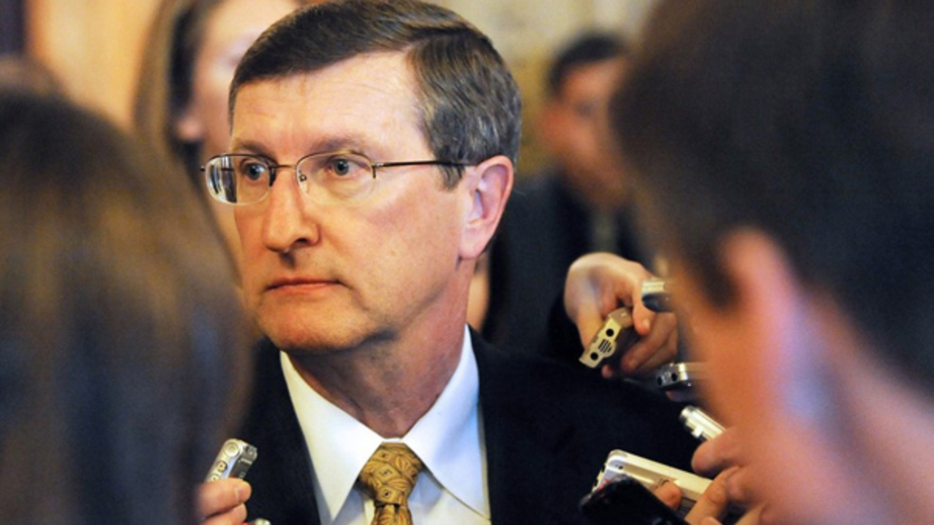 FILE: Sen. Kent Conrad, D-N.D., seen here, was to announce his retirement Tuesday.