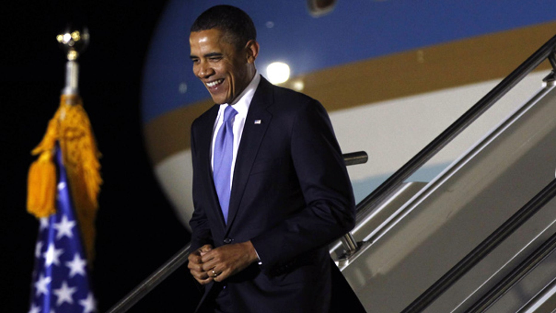 Nov. 10: President Obama arrives to attend the G-20 Summit in Seoul, South Korea.