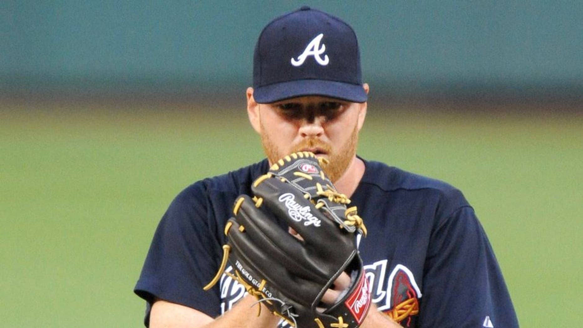 WASHINGTON, DC - JULY 20: Tommy Hanson #48 of the Atlanta Braves pitches during a baseball game against the Washington Nationals on July 20, 2012 at Nationals Park in Washington DC. The Braves won11-10. (Photo by Mitchell Layton/Getty Images)