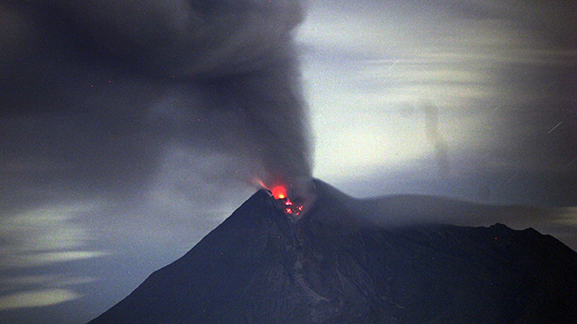 Nov. 13: Mount Merapi spews volcanic material as seen from Manis Renggo, Klaten, Indonesia.