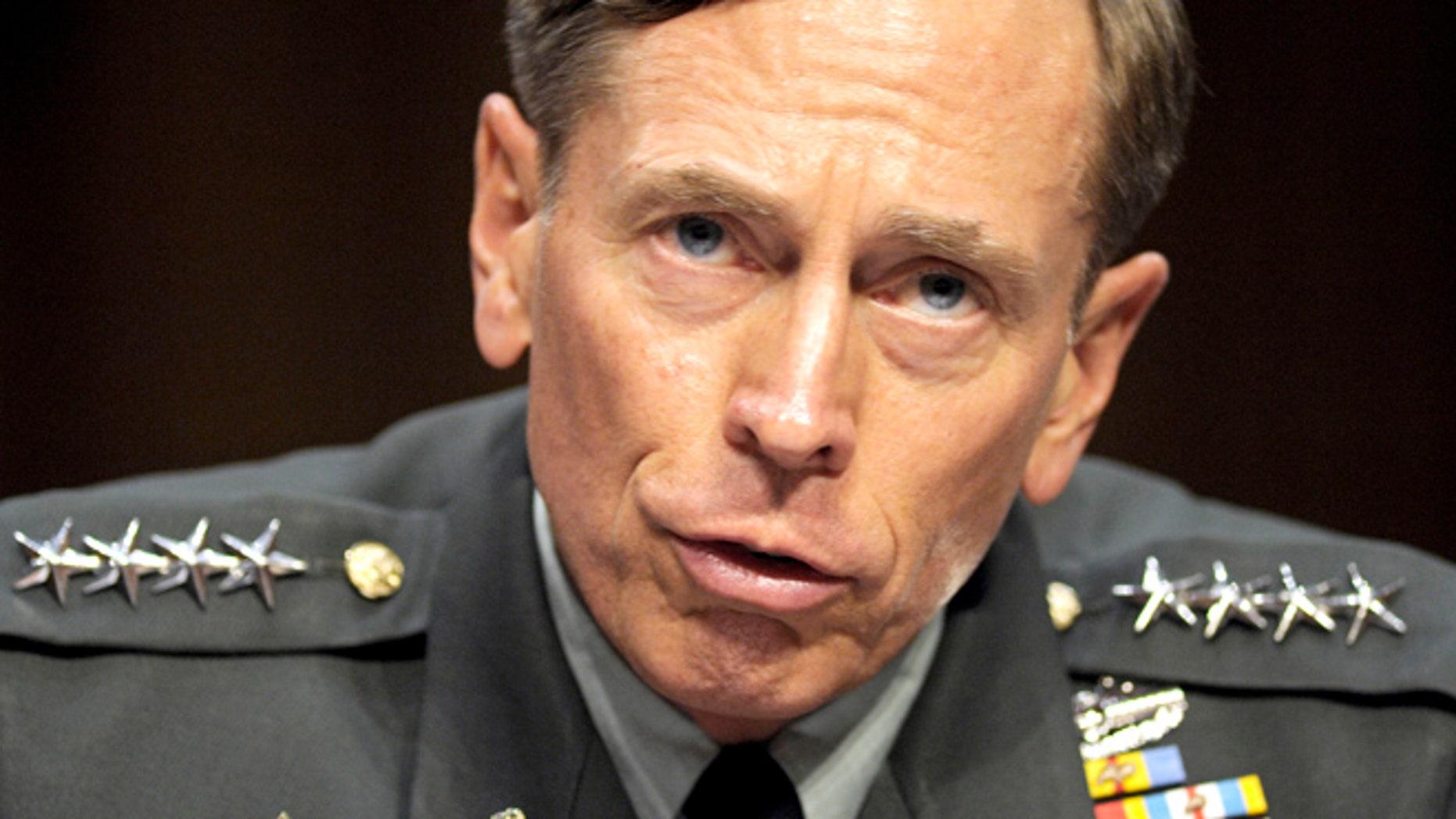 June 23, 2011: Then-CIA Director-desigate Gen. David Petraeus testifies on Capitol Hill in Washington.