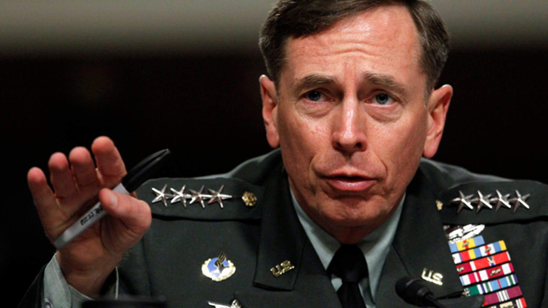 June 29, 2012: Gen. David Petraeus testifies before the Senate Armed Services Committee on Capitol Hill in Washington.