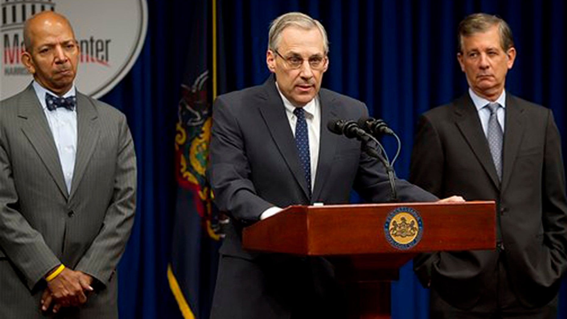 November 18, 2011: David Unkovic answers a question during a news conference.