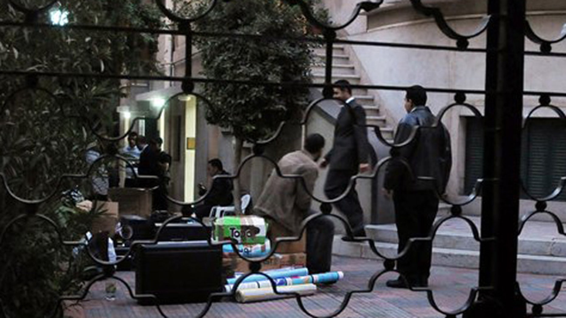December 29, 2011: Egyptian police raid a non-governmental organization office in Cairo, Egypt.