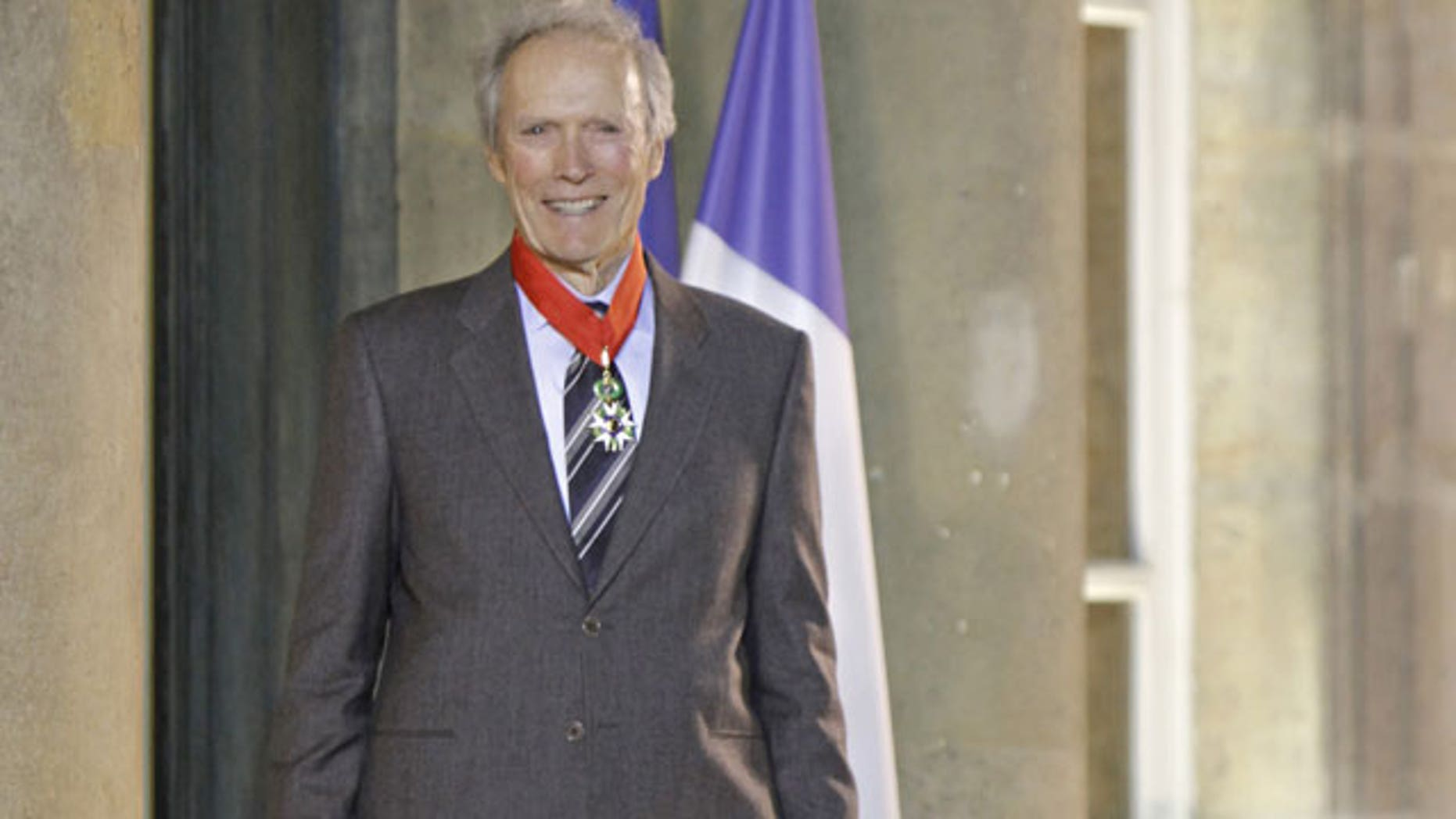 """Nov. 13: U.S. actor and director Clint Eastwood is seen after being awarded the """"Commandeur de la Legion d'Honneur"""" (Commander of the Legion of Honor), at the Elysee Palace, in Paris."""