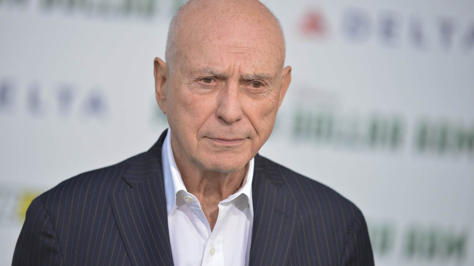 """FILE - In this May 6, 2014 file photo, Alan Arkin arrives at the world premiere of """"Million Dollar Arm"""" in Los Angeles."""