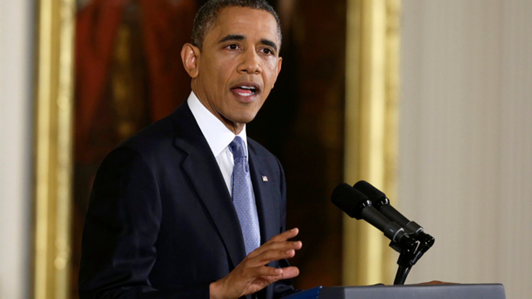 Nov. 14, 2012: President Barack Obama makes an opening statement during his news conference.