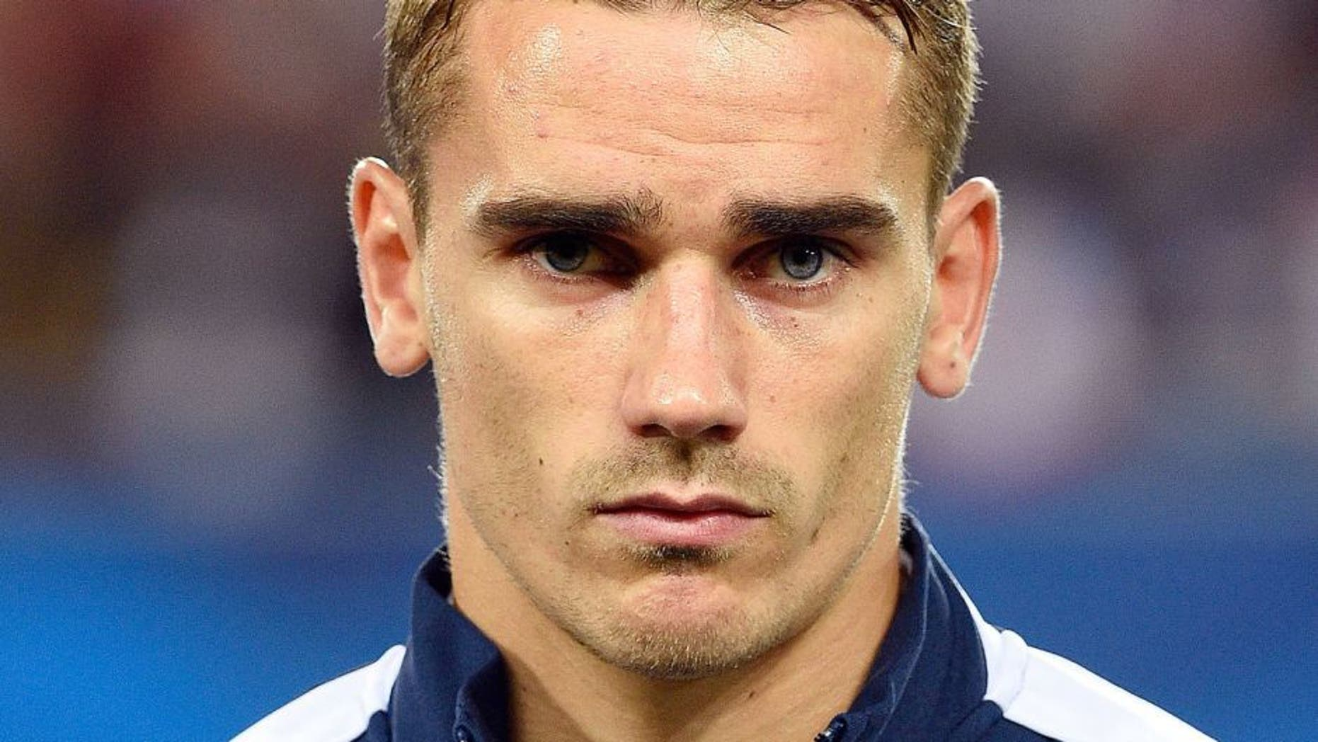 France's forward Antoine Griezmann is pictured during the Euro 2016 friendly football match France vs Serbia on September 7, 2015, at the Nouveau Stade stadium, in Bordeaux, western France. AFP PHOTO / FRANCK FIFE (Photo credit should read FRANCK FIFE/AFP/Getty Images)