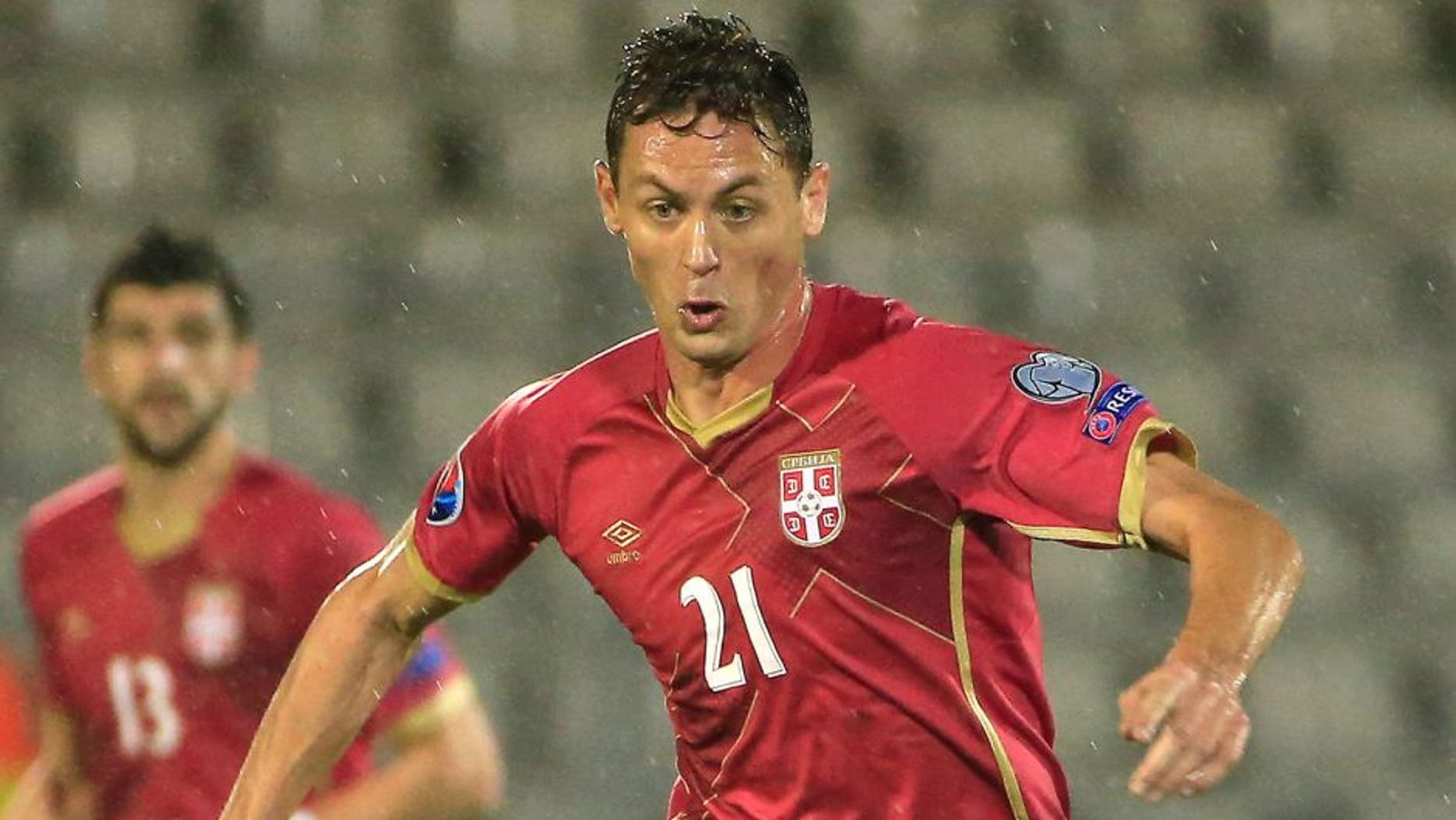 BELGRADE, SERBIA - OCTOBER 11: Nemanja Matic of Serbia in action during the Euro 2016 qualifying football match between Serbia and Portugal at the Stadium FC Partizan in Belgrade on October 11, 2015. (Photo by Srdjan Stevanovic/Getty Images)