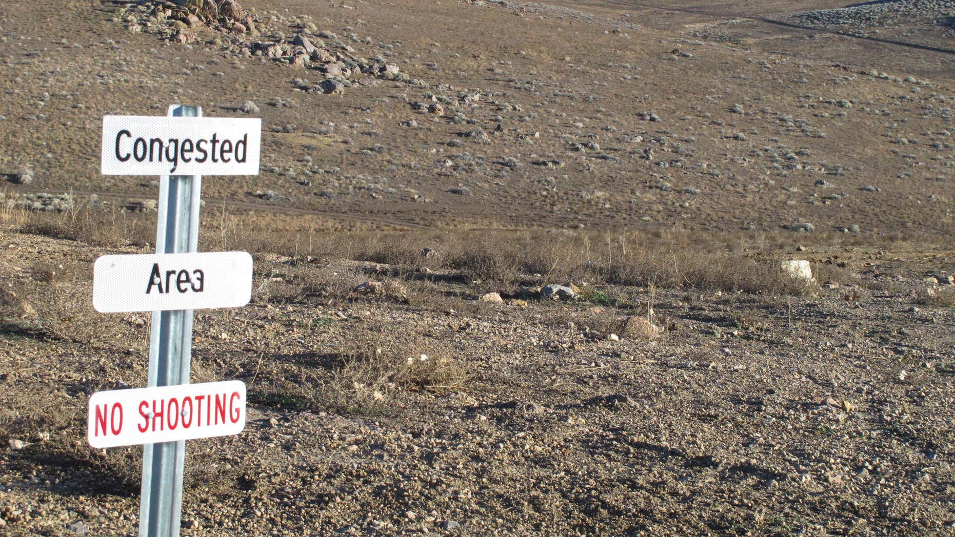 This photo taken Nov. 5, 2015 shows a parcel of U.S. Bureau of Land Management Land that the city of Sparks wants to acquire for a new veterans cemetery.