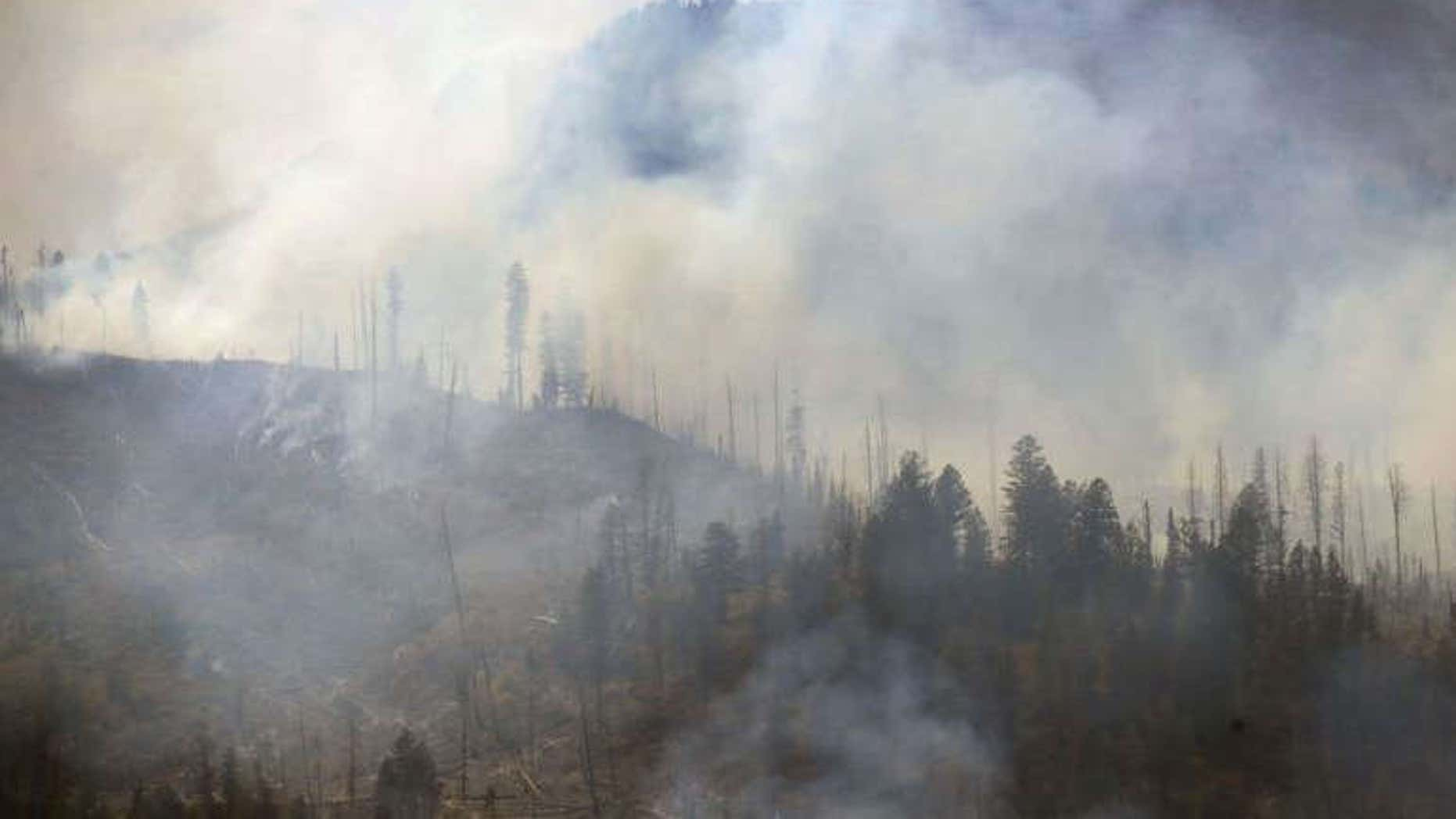 The fire closed the Slough Creek Campground in northeast Yellowstone National Park.