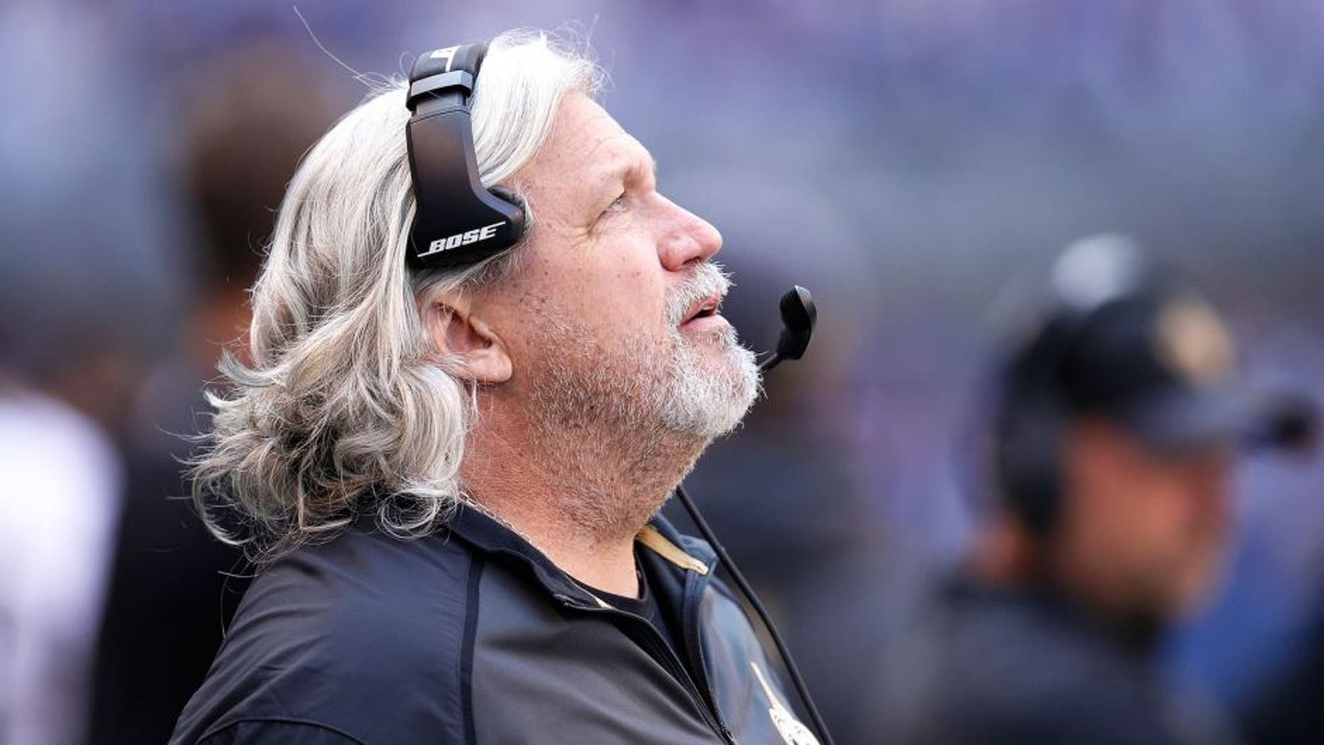 INDIANAPOLIS, IN - OCTOBER 25: Defensive coordinator Rob Ryan of the New Orleans Saints looks on against the Indianapolis Colts during a game at Lucas Oil Stadium on October 25, 2015 in Indianapolis, Indiana. The Saints defeated the Colts 27-21. (Photo by Joe Robbins/Getty Images)