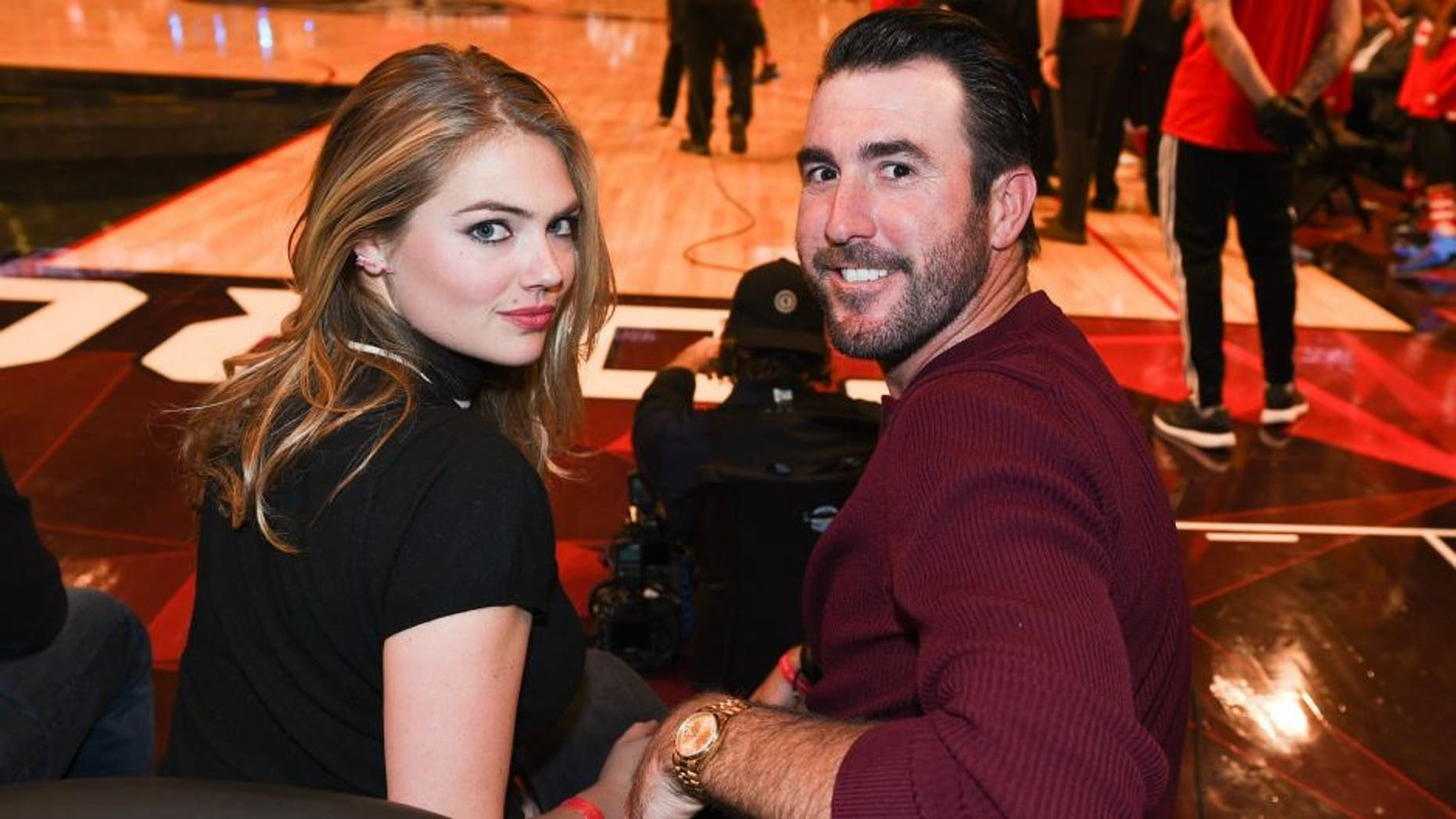 TORONTO, ON - FEBRUARY 14: Model/ Actress Kate Upton (L) and Justin Verlander attends the 2016 NBA All-Star Game at Air Canada Centre on February 14, 2016 in Toronto, Canada. (Photo by George Pimentel/Getty Images)