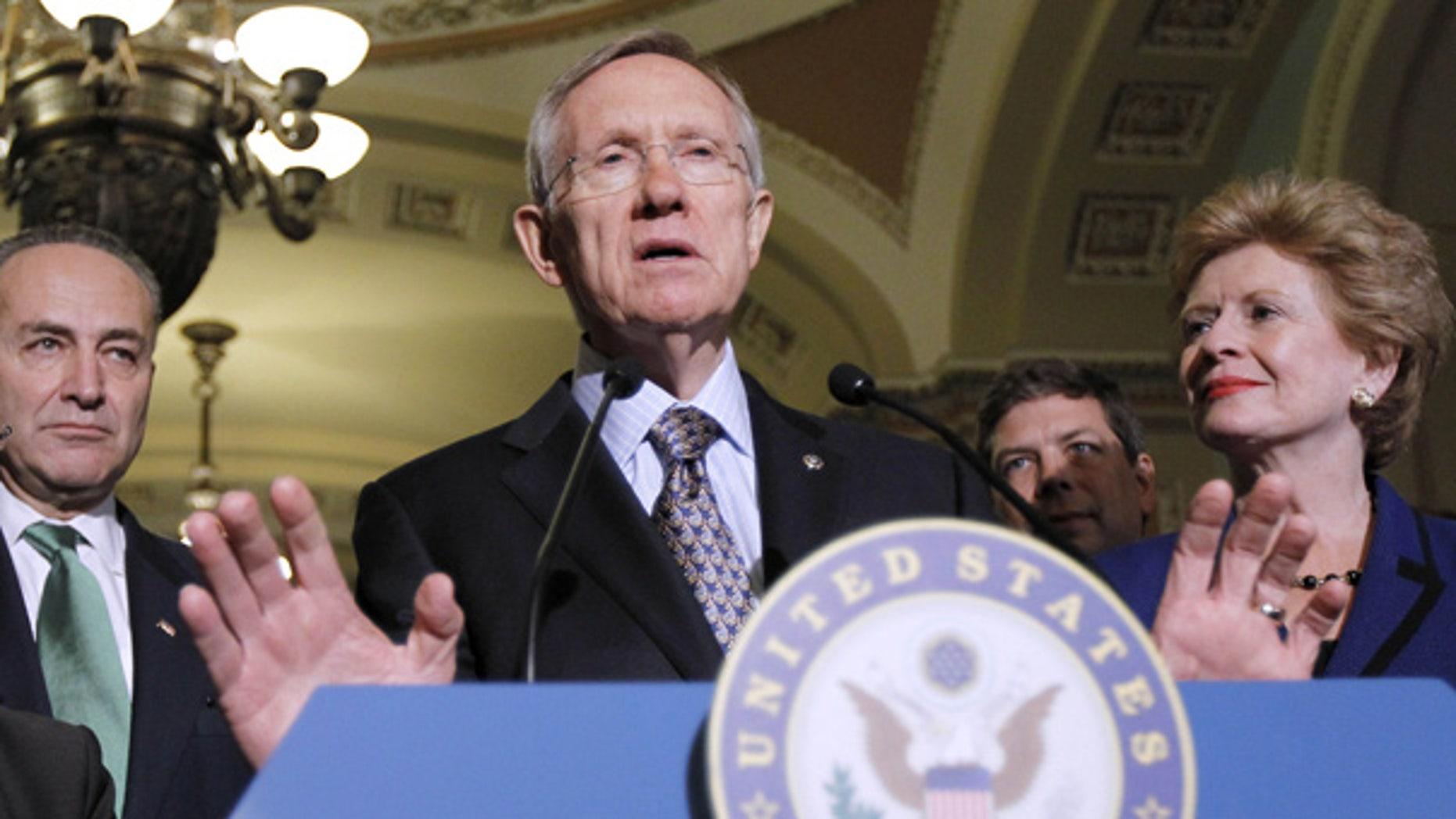 Nov. 16: Senate Majority Leader Harry Reid at a news conference on Capitol Hill in Washington.